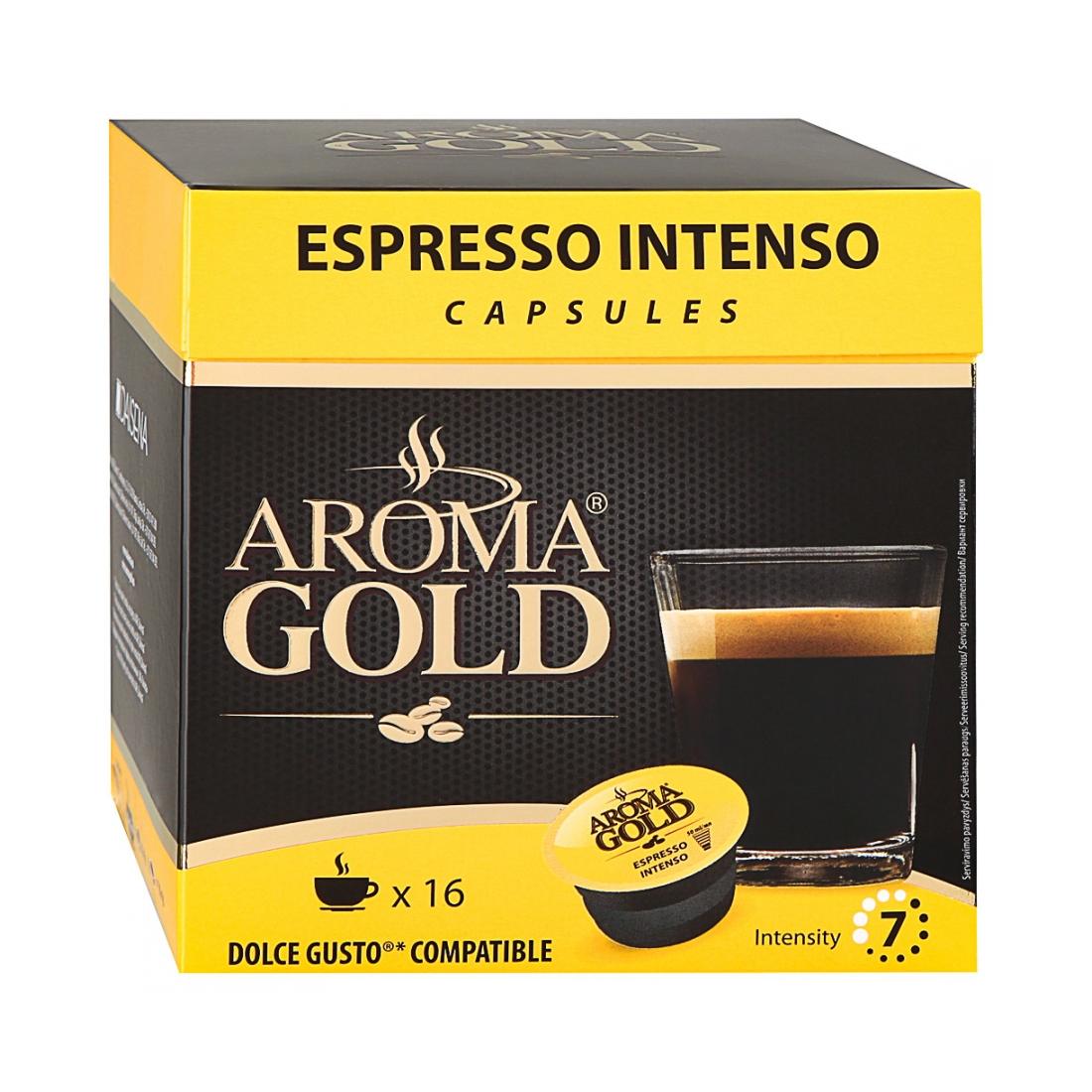 Кофе Aroma Gold Espresso Intenso в капсулах 16 шт