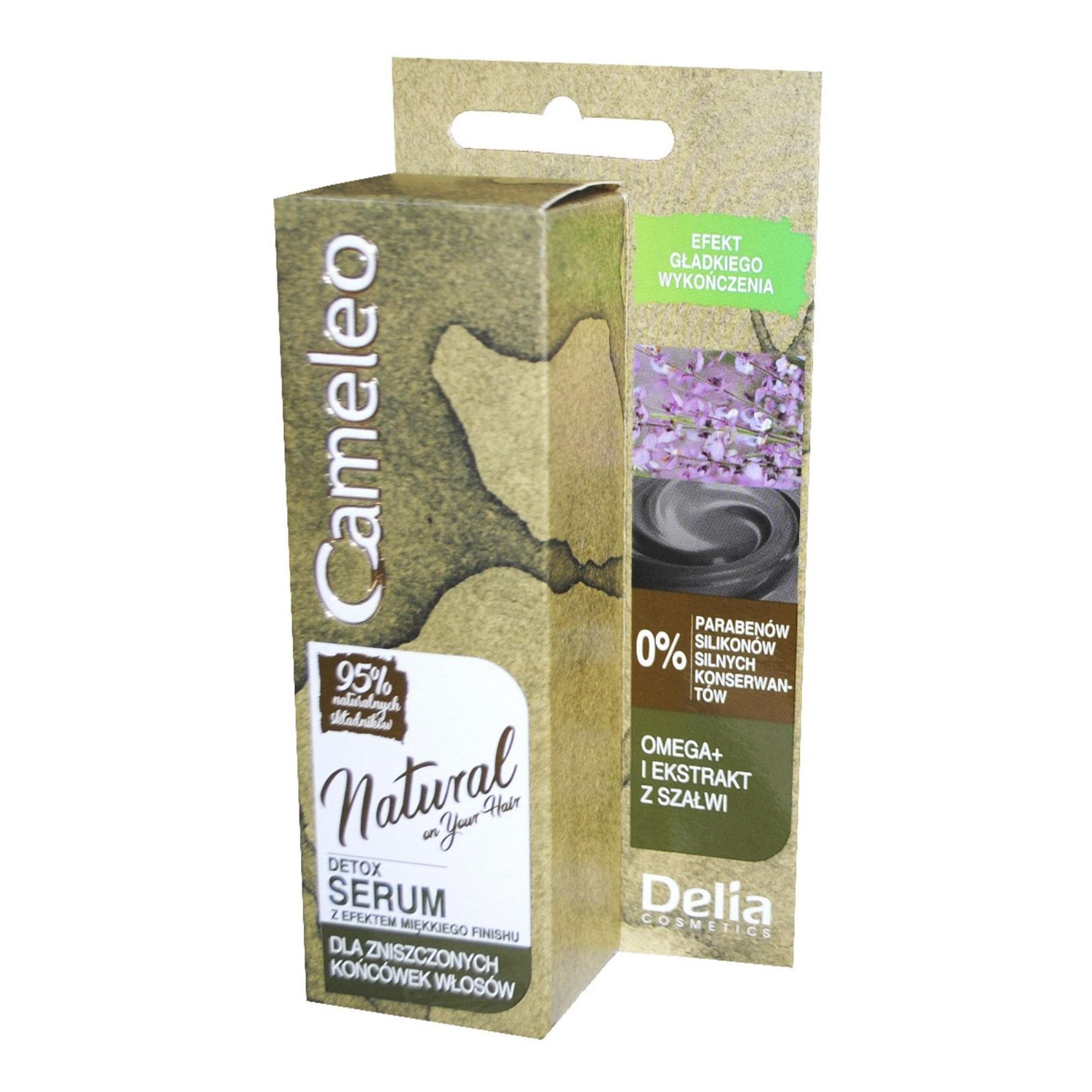 Сыворотка для волос Delia Cosmetics Cameleo Detox для кончиков 55 мл кератиновый кондиционер delia cosmetics cameleo вв объем волос 200 мл