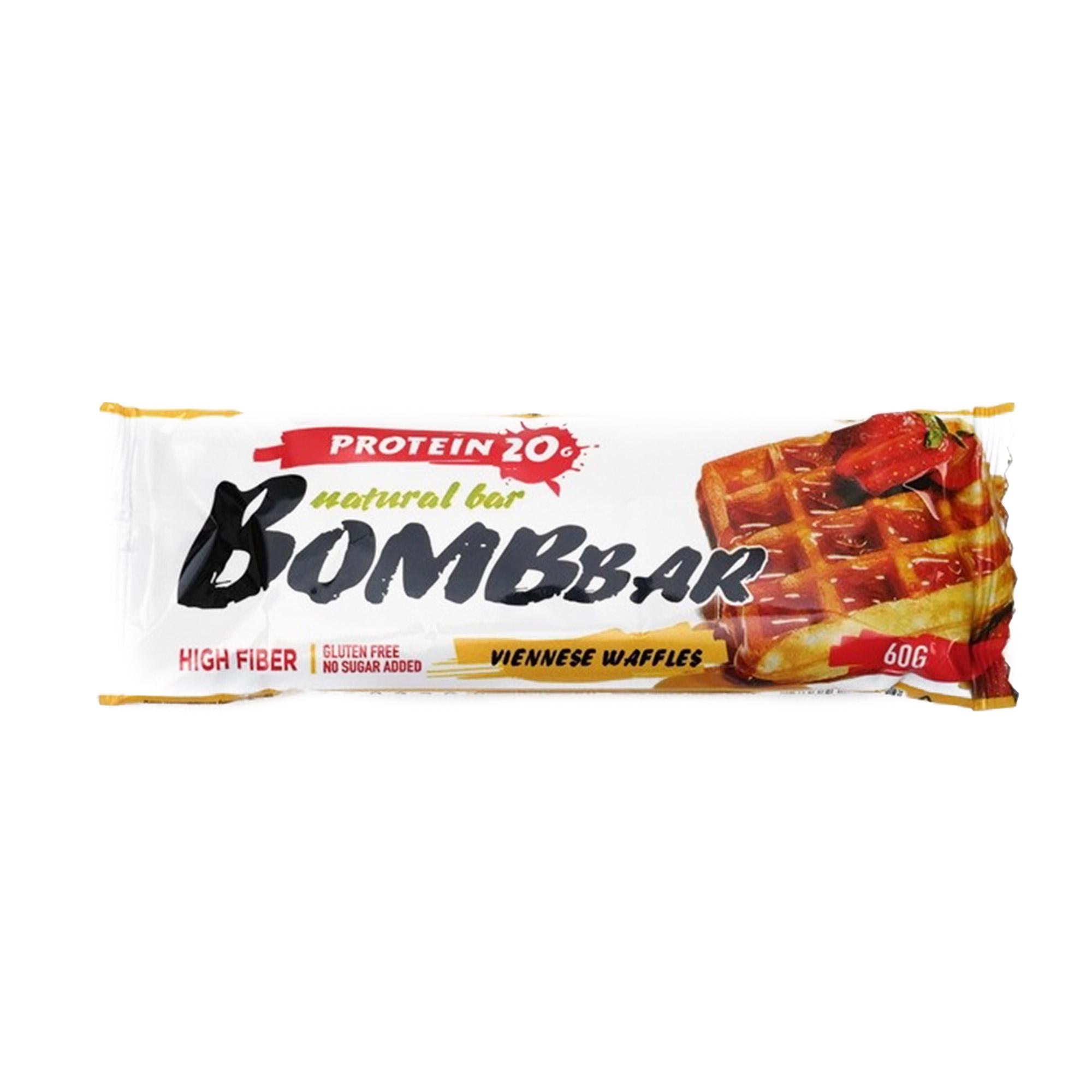 Протеиновый батончик Bombbar венские вафли, 60 г батончик протеиновый bombbar датский бисквит 60 г