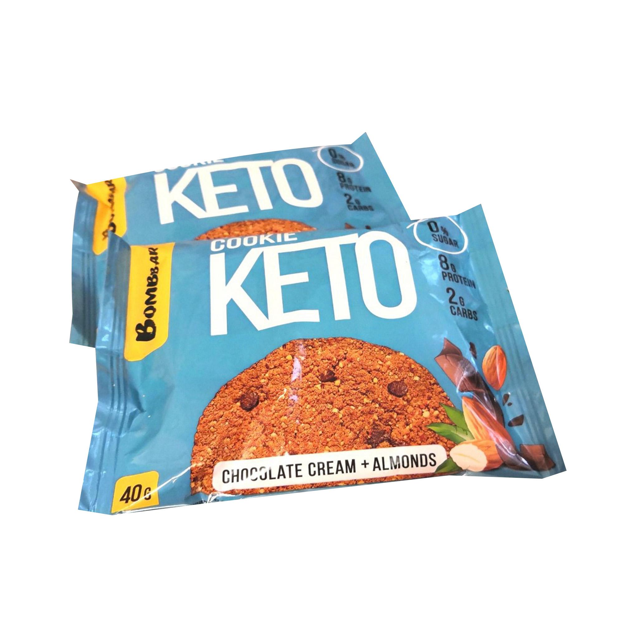 Кето-печенье Bombbar Ваниль шоколад с миндалём, 40 г