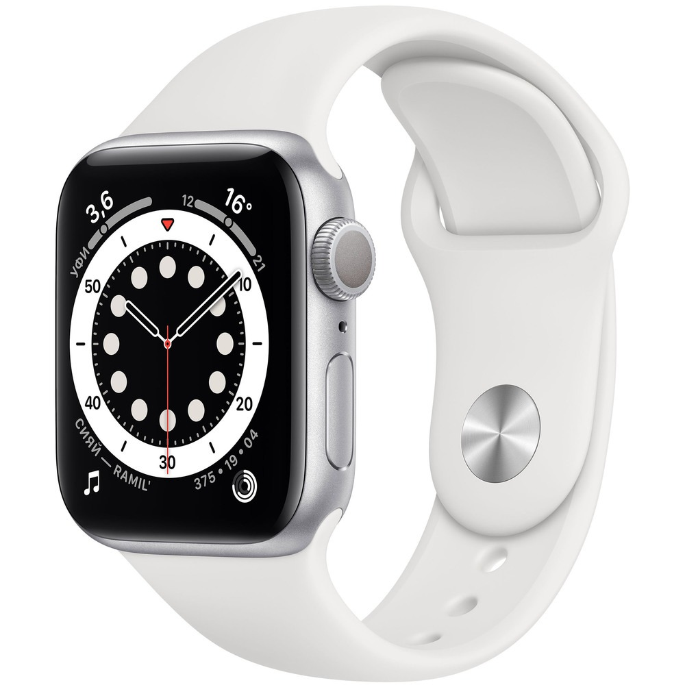 Фото - Смарт-часы Apple Watch Series 6 40 мм Silver MG283RU/A ellen m weinstein mom and dad just shut up and watch the game 32 suggestions for sideline parents from an experienced sports mom