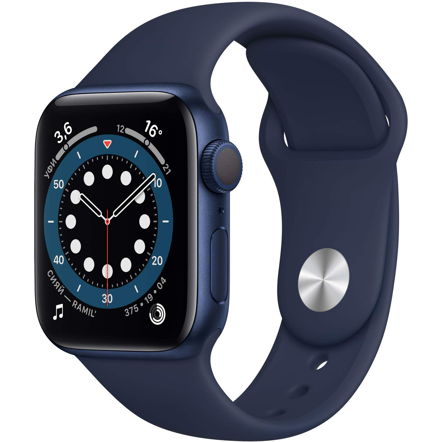 Смарт-часы Apple Watch 6 GPS 44мм Blue M00J3RU/A смарт часы apple watch series 6 40 мм золотой mg123ru a