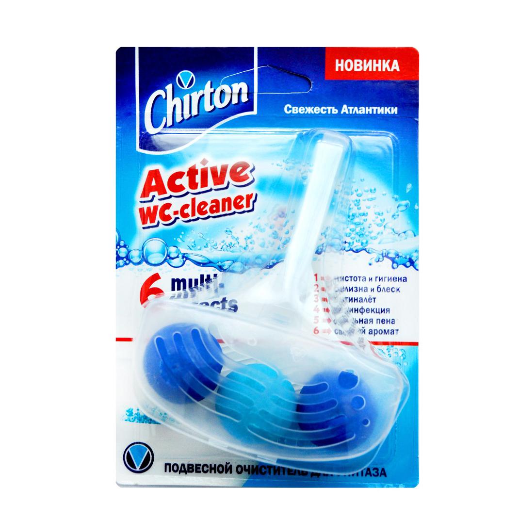 Фото - Подвесной очиститель для унитаза Chirton Свежесть атлантики 45 г чистящий кубик для унитаза chirton альпийская долина 3x50 г