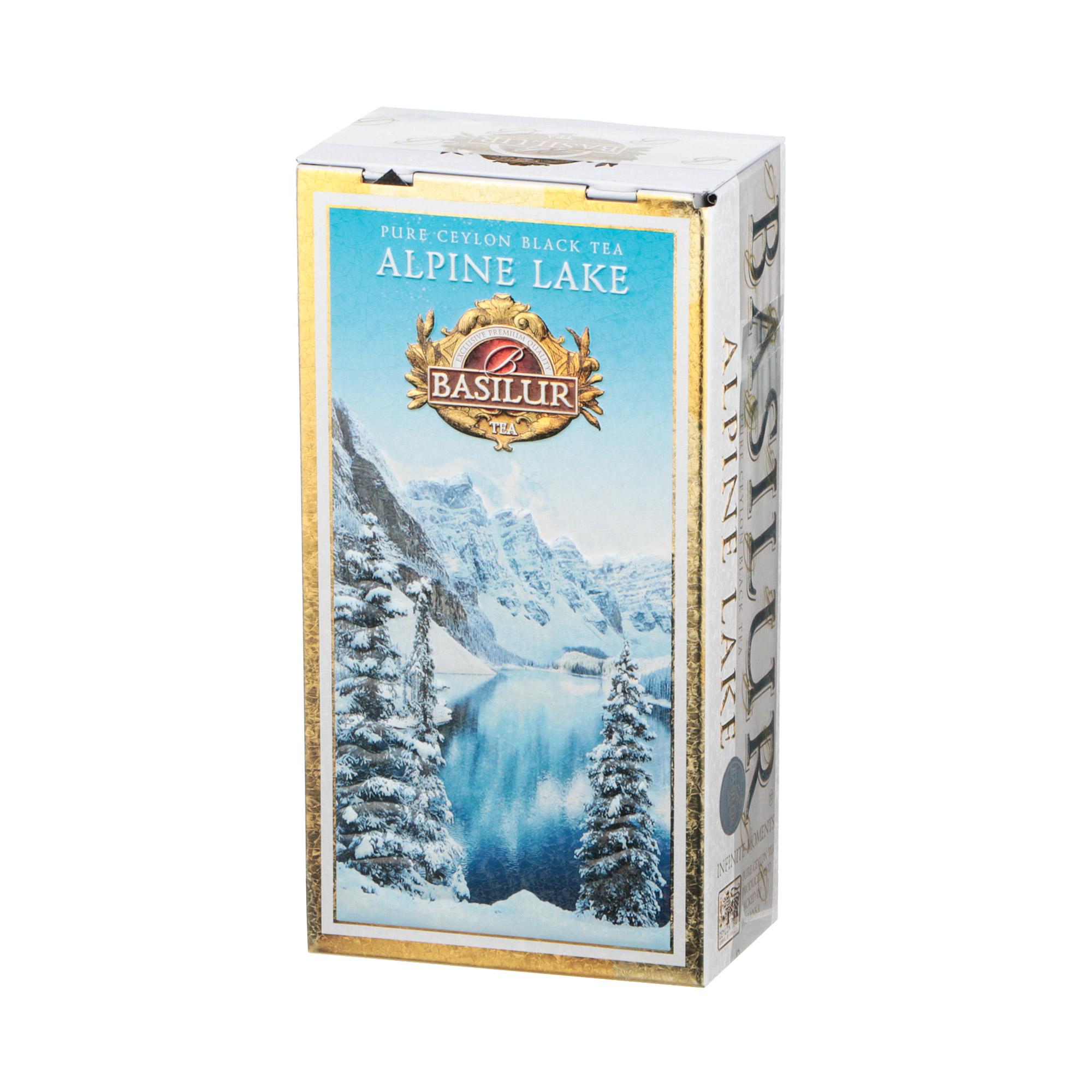 Фото - Чай листовой Basilur Infinite Moments Alpine Lake Высокогорное озеро 75 г чай basilur город мечты черный листовой с добавками ж б 75 г