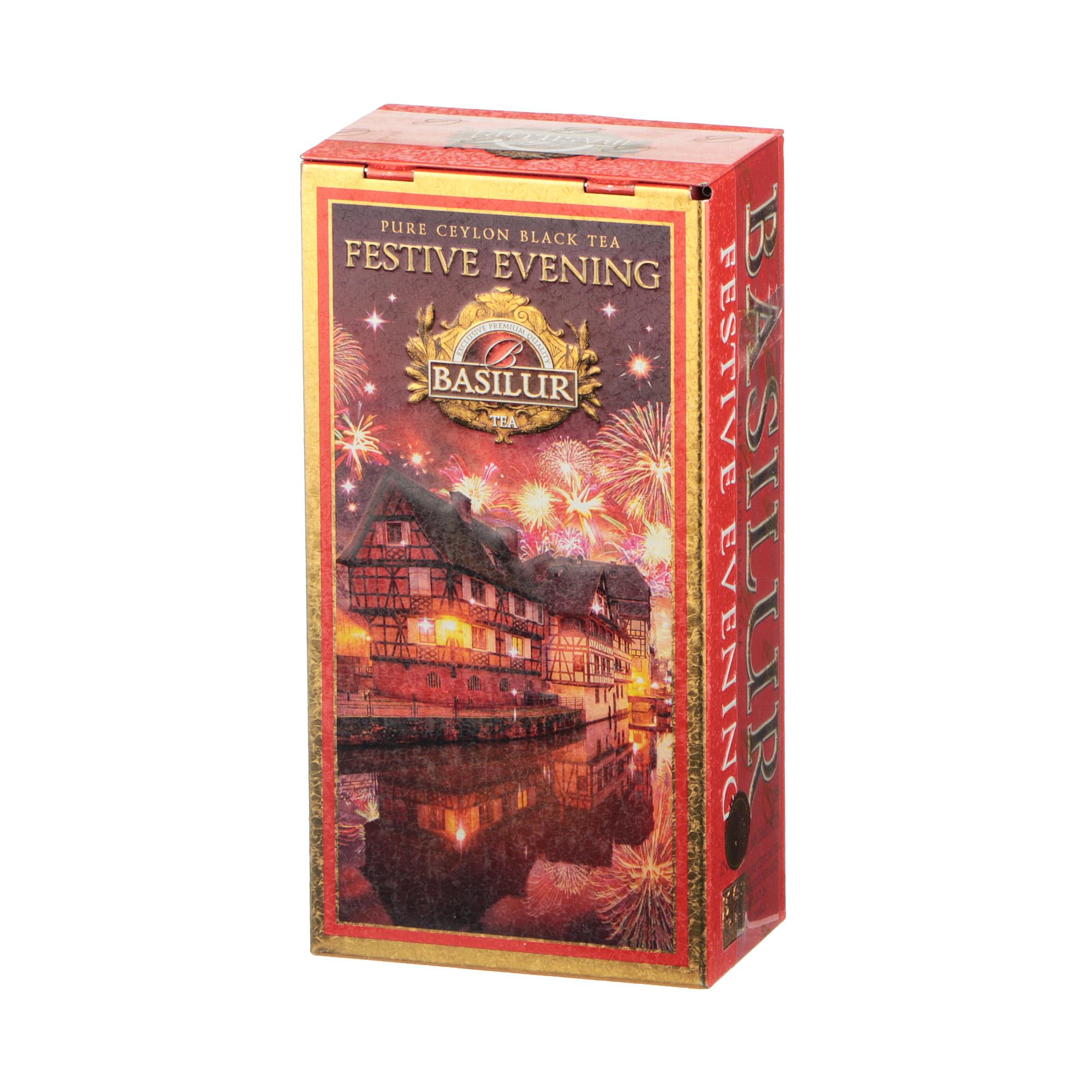Фото - Чай листовой Basilur Infinite Moments Festive Evening Праздничный вечер 75 г чай basilur город мечты черный листовой с добавками ж б 75 г