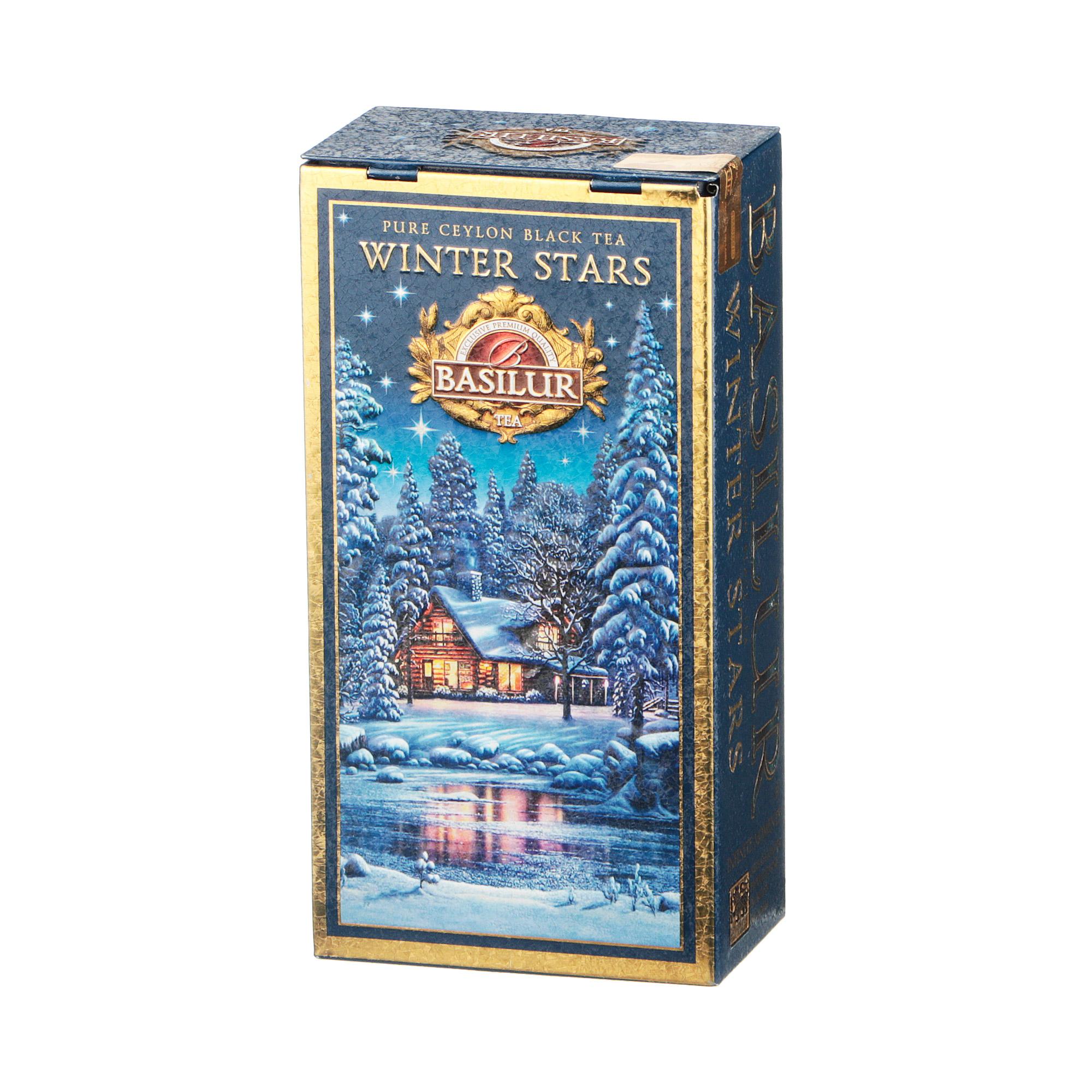 Фото - Чай листовой Basilur Infinite Moments Collection Winter Stars Холод зимних звезд 75 г чай basilur город мечты черный листовой с добавками ж б 75 г