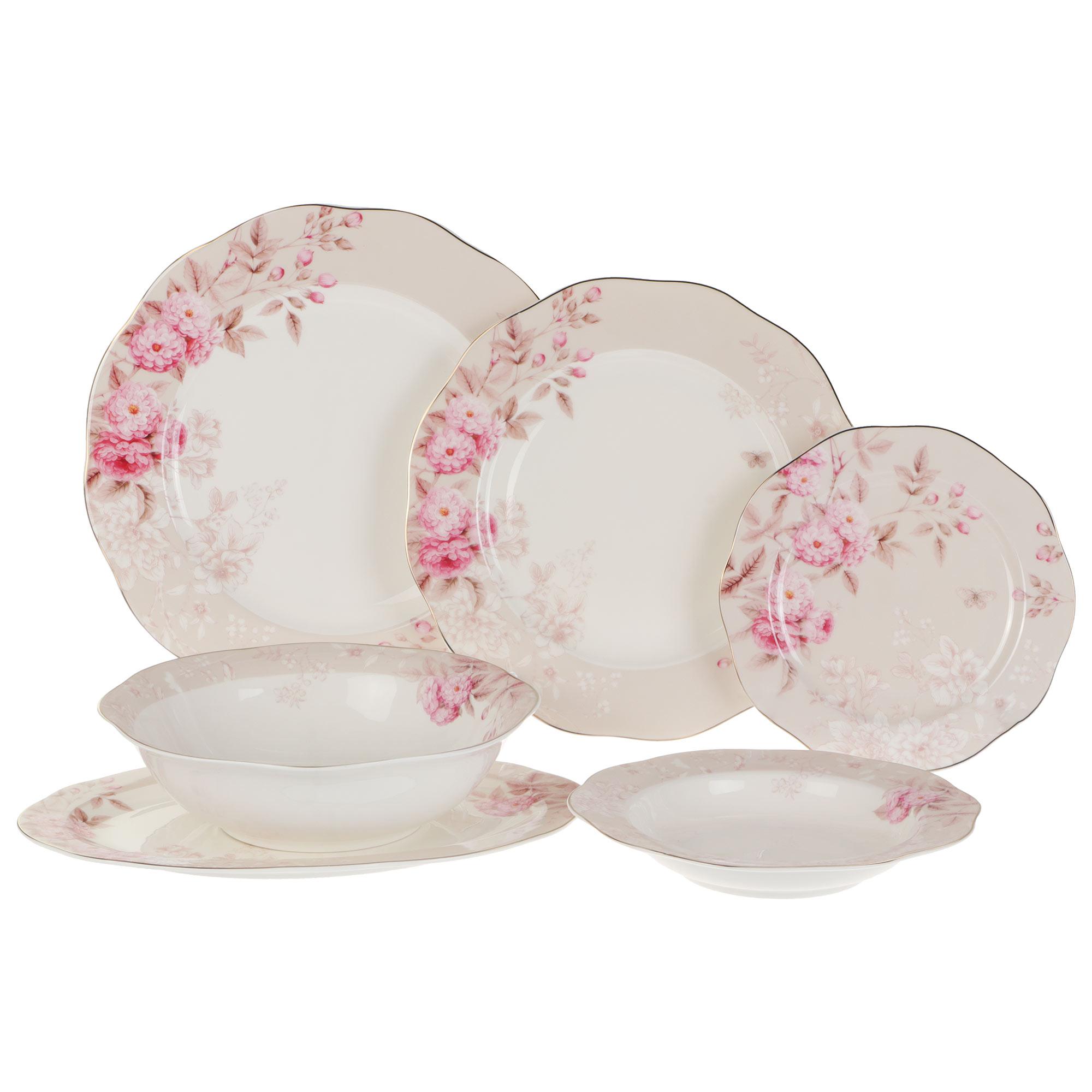Сервиз столовый Macbeth bone porcelain Garden 21 предмет