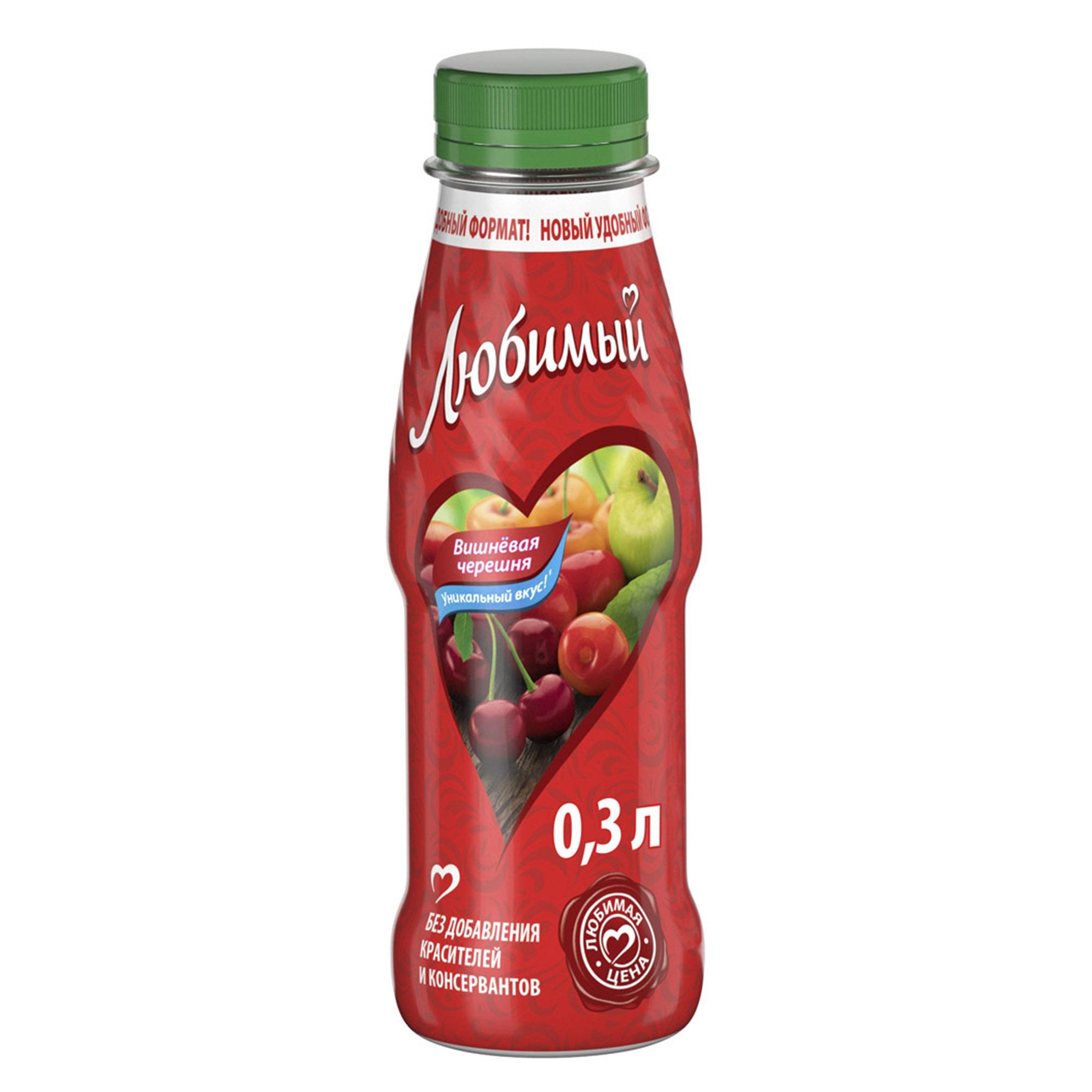 Напиток сокосодержащий Любимый Яблоко, вишня, черешня 300 мл напиток сокосодержащий любимый яблоко вишня черешня 0 95 л