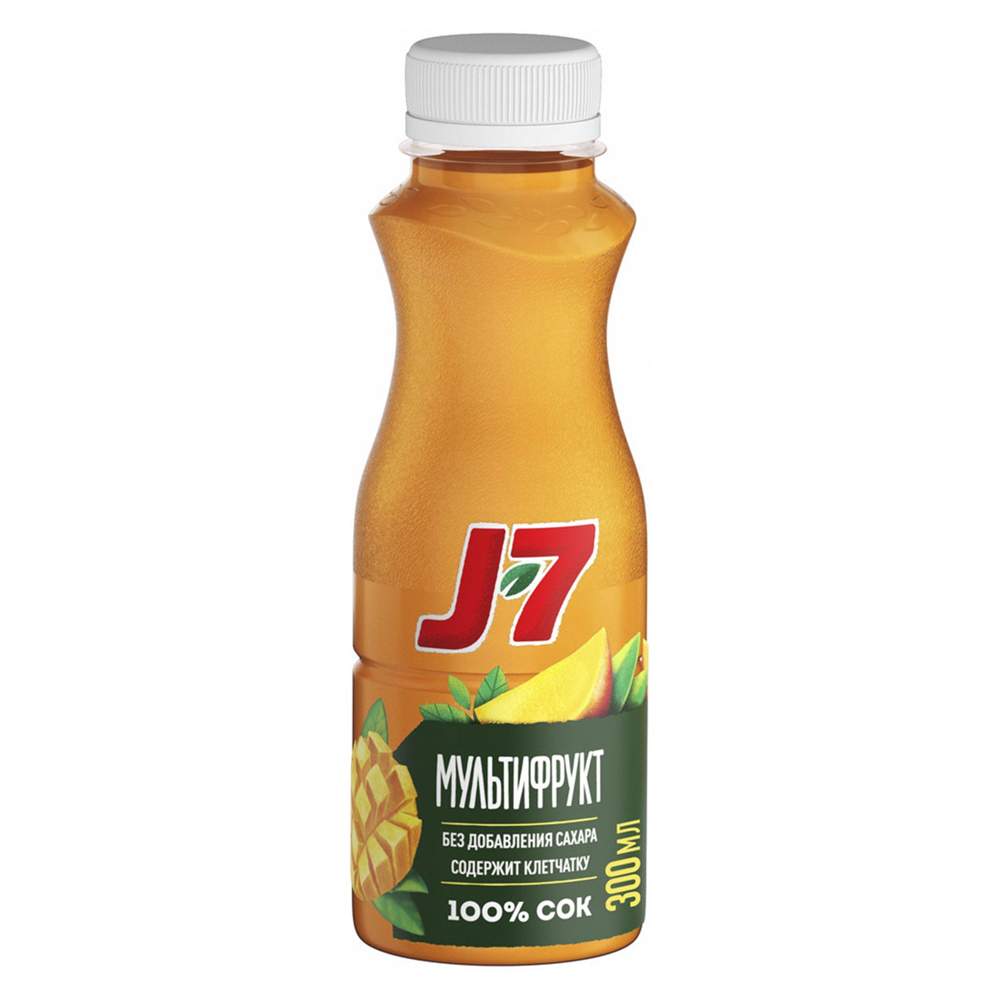 Фото - Сок J7 Мультифрукт с мякотью 300 мл сок томатный j7 тонус 900 мл