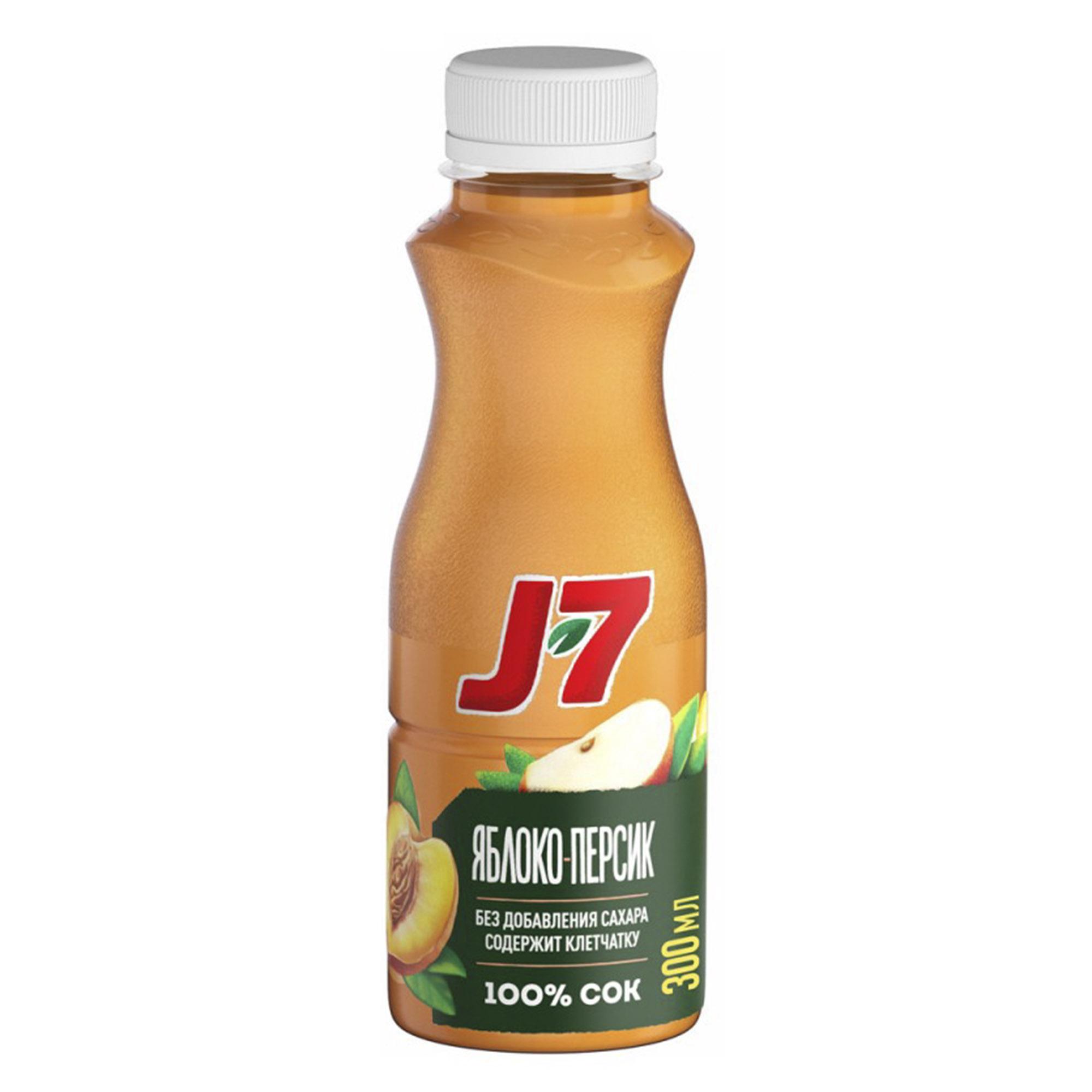 Фото - Сок J7 Яблоко, персик 300 мл сок томатный j7 тонус 900 мл