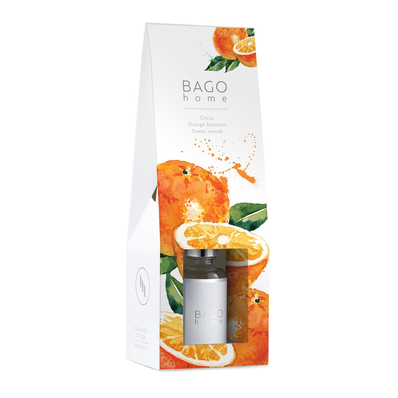 Диффузор ароматический BAGO home Сочный апельсин 30 мл
