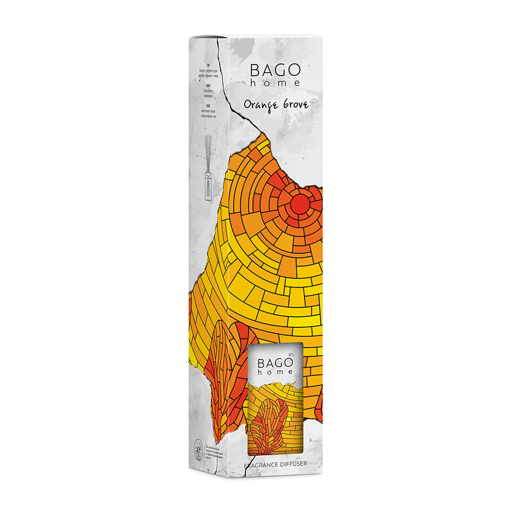 Диффузор ароматический BAGO home Апельсиновая роща 110 мл