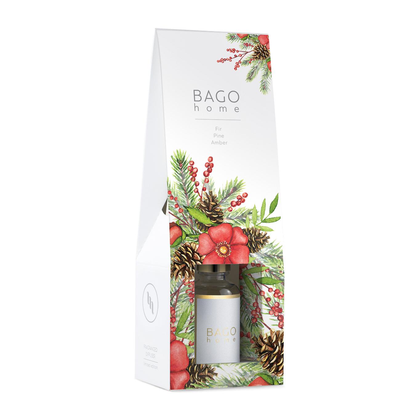 Диффузор ароматический BAGO home Зимняя ель 30 мл