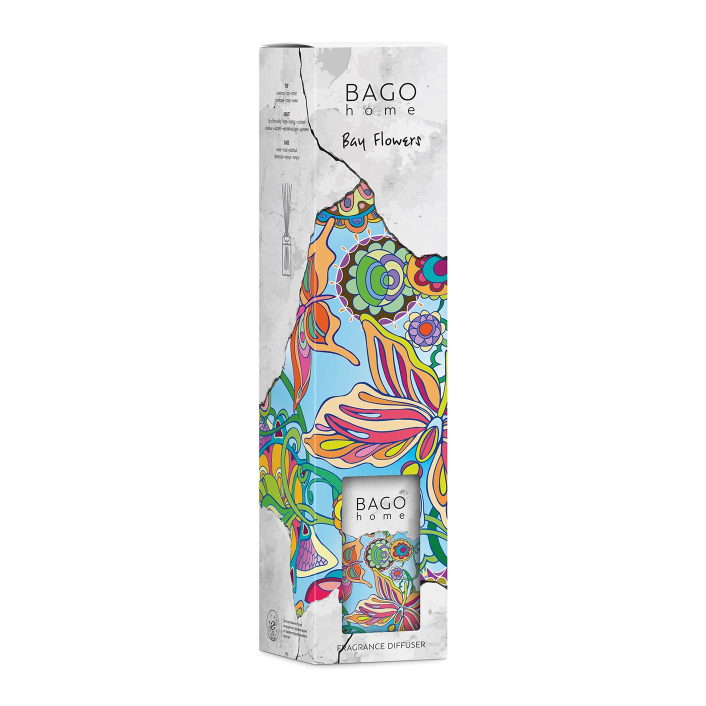 Диффузор ароматический BAGO home Лавровые цветы 110 мл