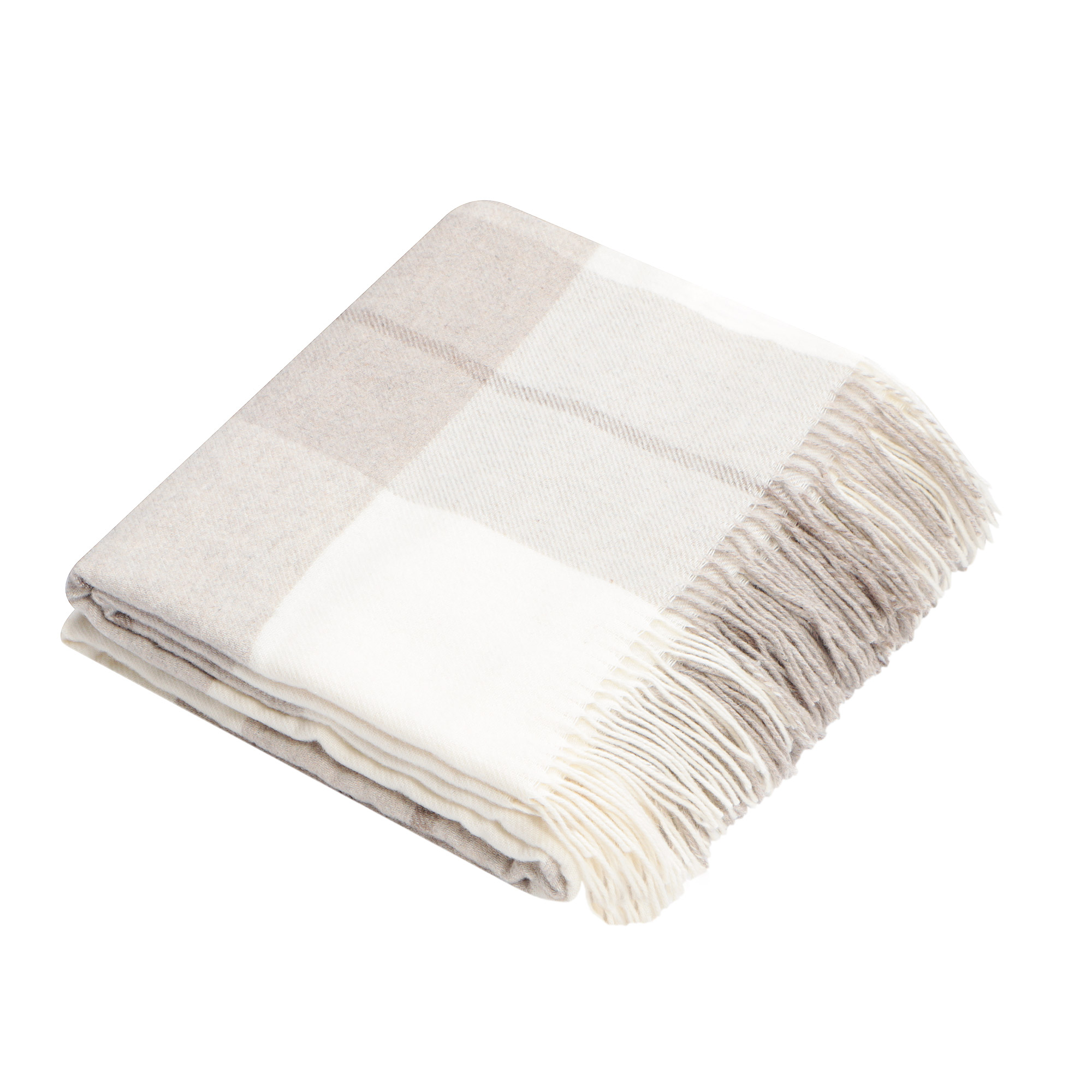 Плед Home Blanket Sienna бежевый с белым 140х200 см