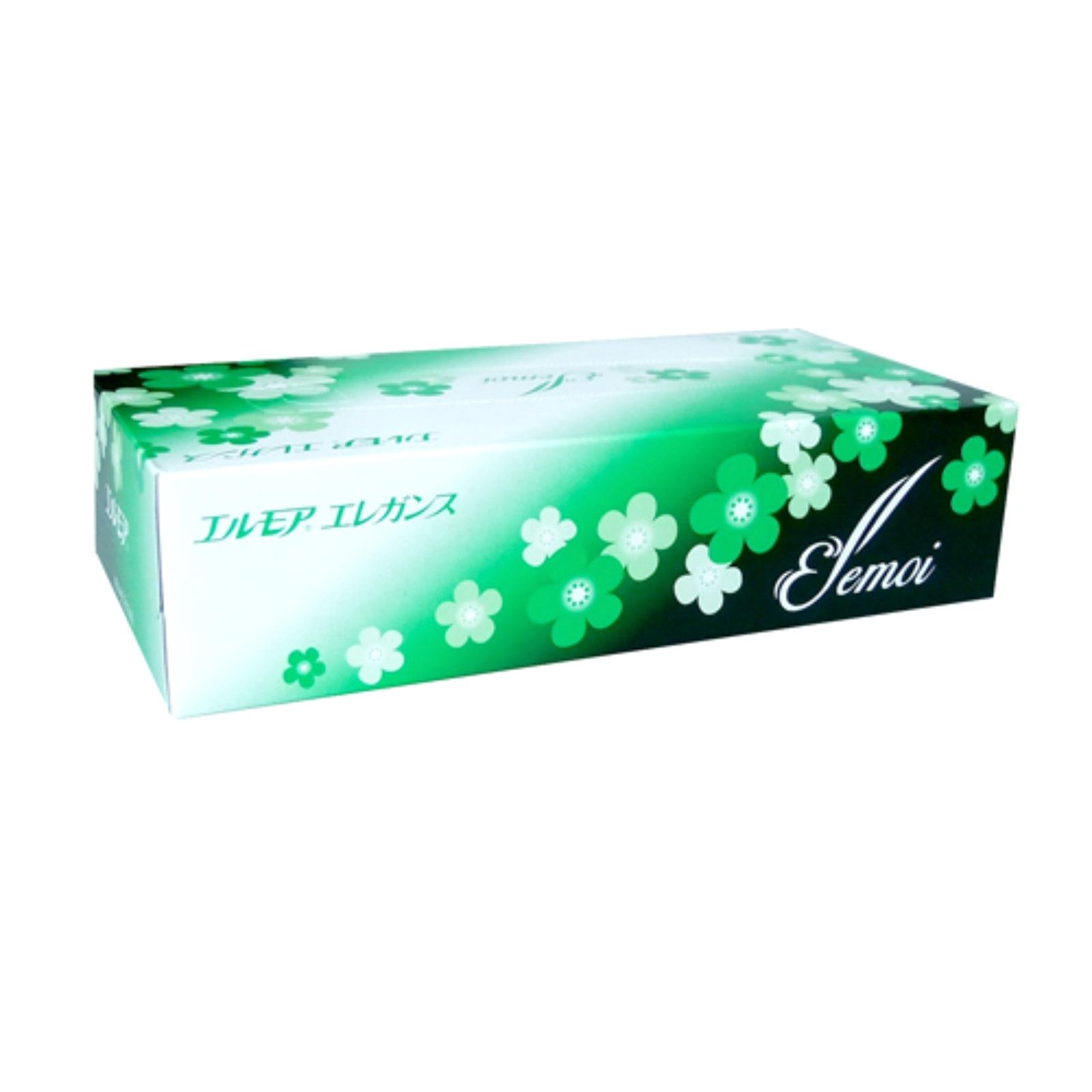 Салфетки бумажные Ellemoi Kami Shodji Ellemoi Elegance 2-х слойные 200 шт носовые платочки kami shodji ellemoi 2 слоя 10 штук в пачке спайка из 20 пачек