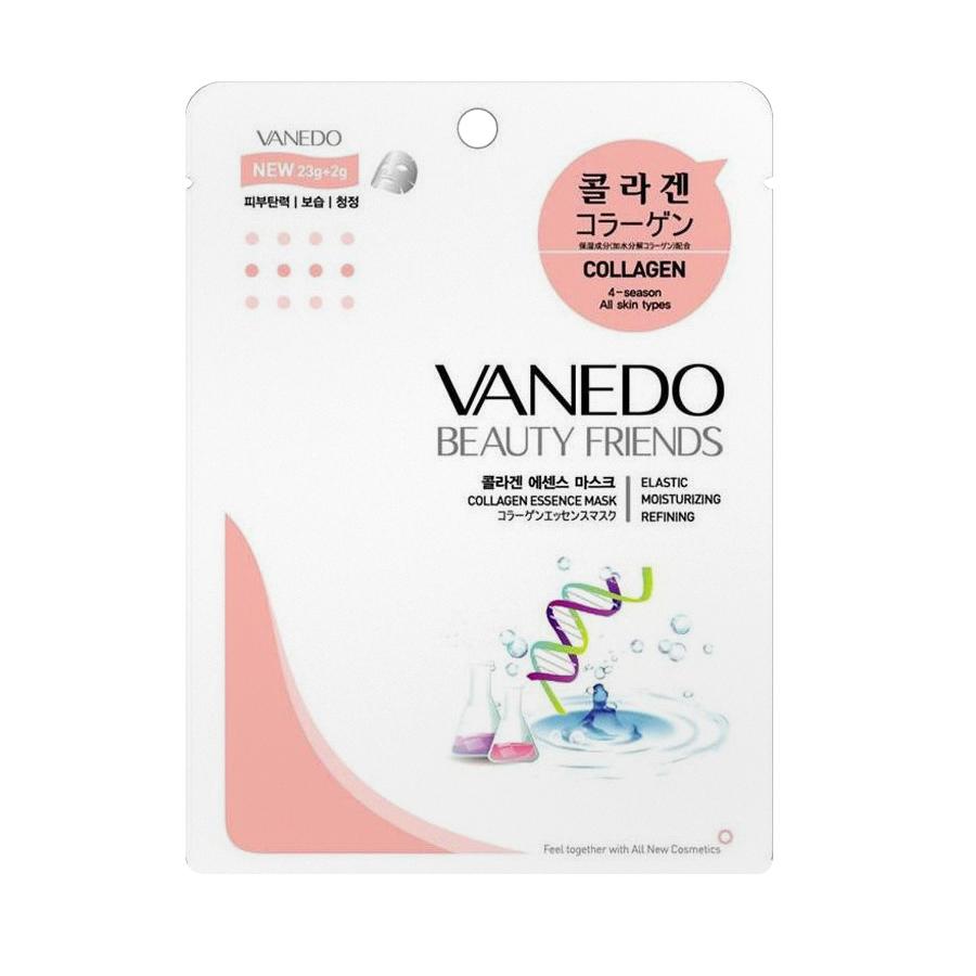 Разглаживающая кожу маска для лица All New Cosmetic Vanedo Beauty Friends с коллагеновой эссенцией