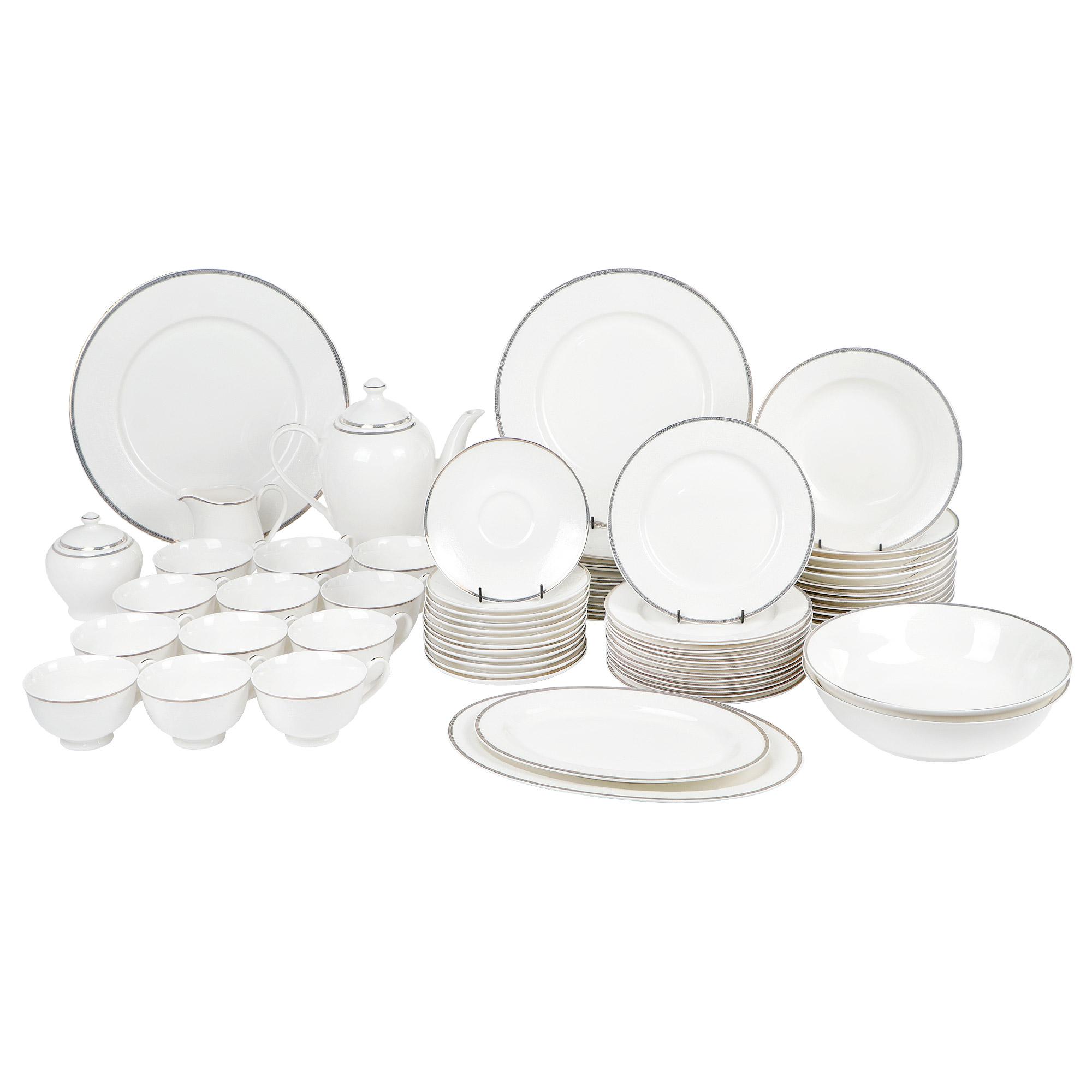 Сервиз чайно-столовый Macbeth bone porcelain Elizabeth на 12 персон