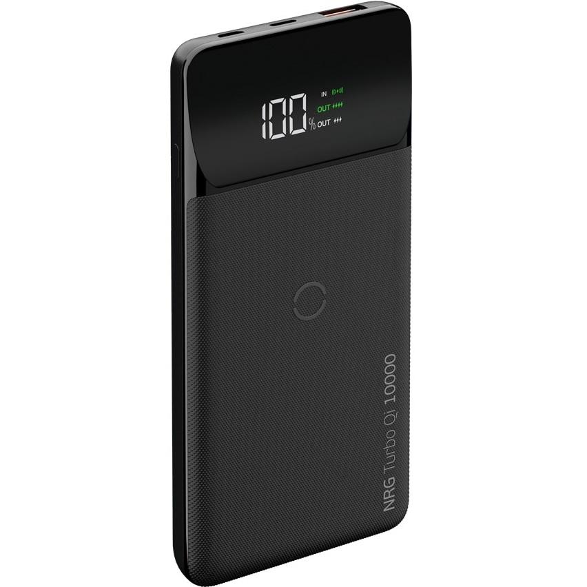 Внешний аккумулятор Deppa NRG Turbo Qi LCD 10000 mAh