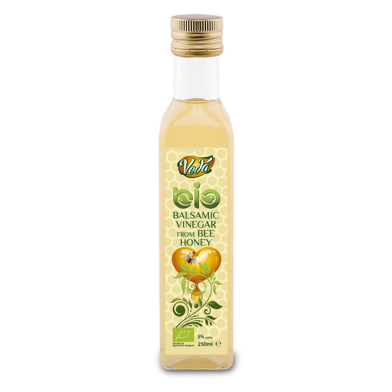 Уксус бальзамический Veda из пчелиного меда органический 5% 250 мл.