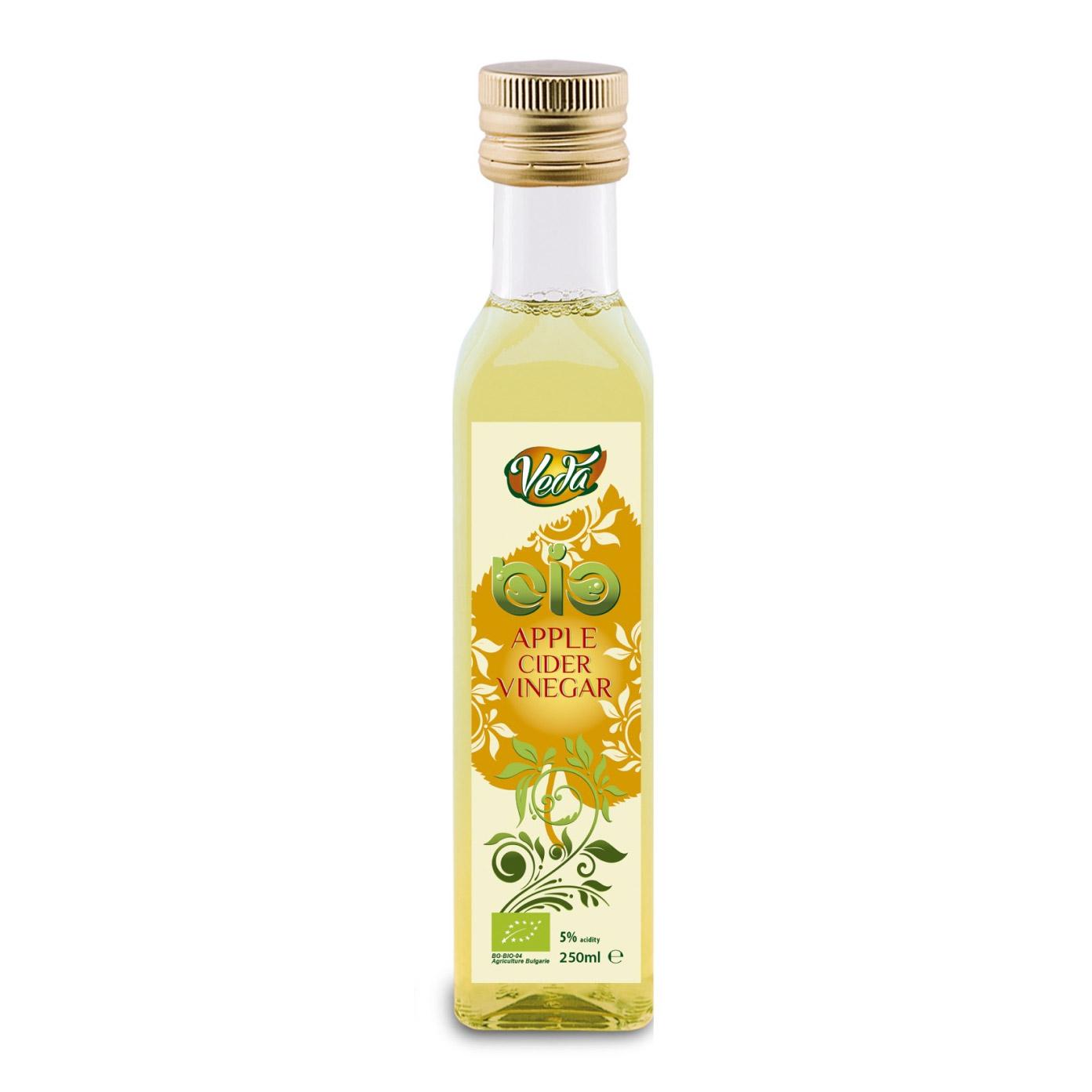 Уксус яблочный Veda органический 5% 250 мл.