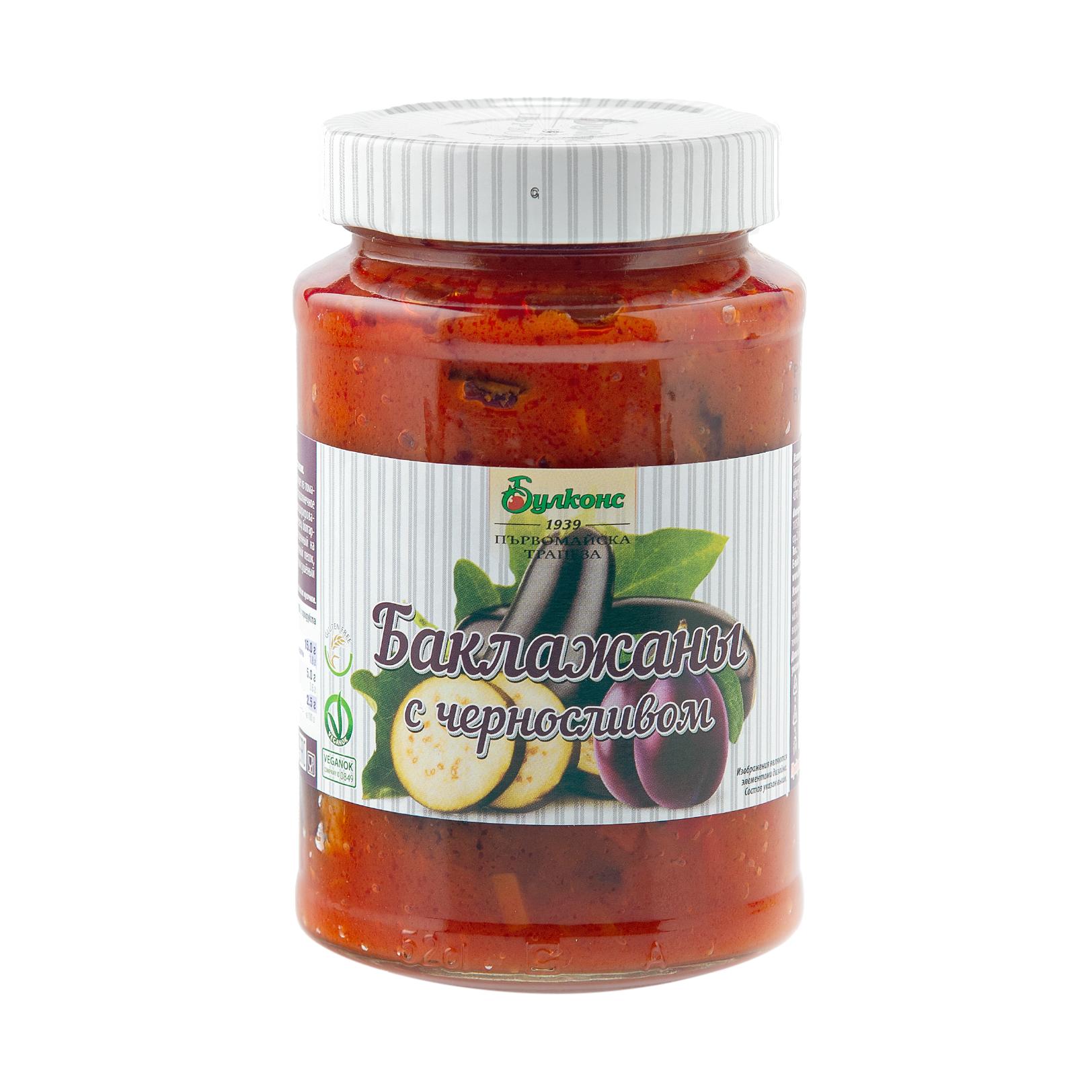 Баклажаны Булконс с черносливом, 470 г баклажаны жареные noyan с черносливом в томатном соусе 560 г