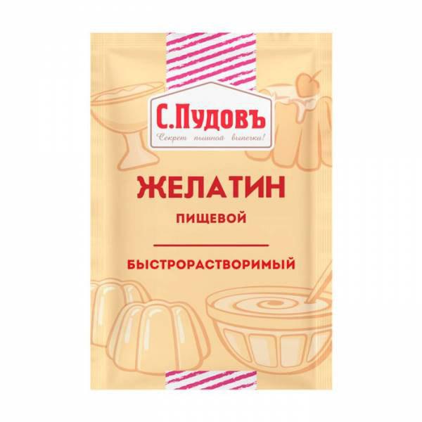 Фото - Желатин пищевой С.Пудовъ быстрорастворимый, 10 г желатин пищевой haas 10 г