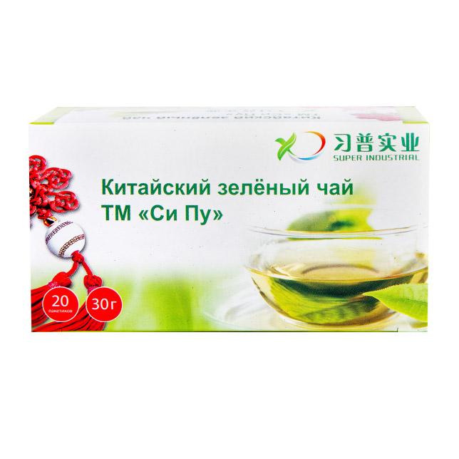 Чай зеленый Shennun ТМ Си Пу мелколистовой, 20 пакетиков