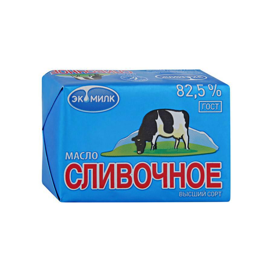 Фото - Масло сливочное Экомилк несоленое 82.5%, 100 г масло село зеленое сладко сливочное традиционное несоленое 82 5% 175 г