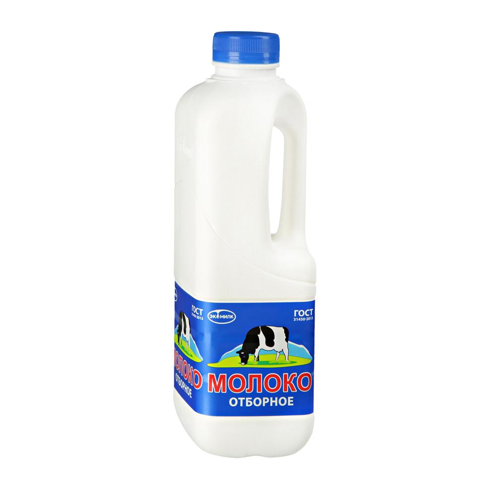 Молоко Экомилк отборное пастеризованное 3,4-4,5%, 900 мл экомилк бзмж молоко цельное отборное питьевое пастеризованное 3 4 4 5% 900мл экомилк