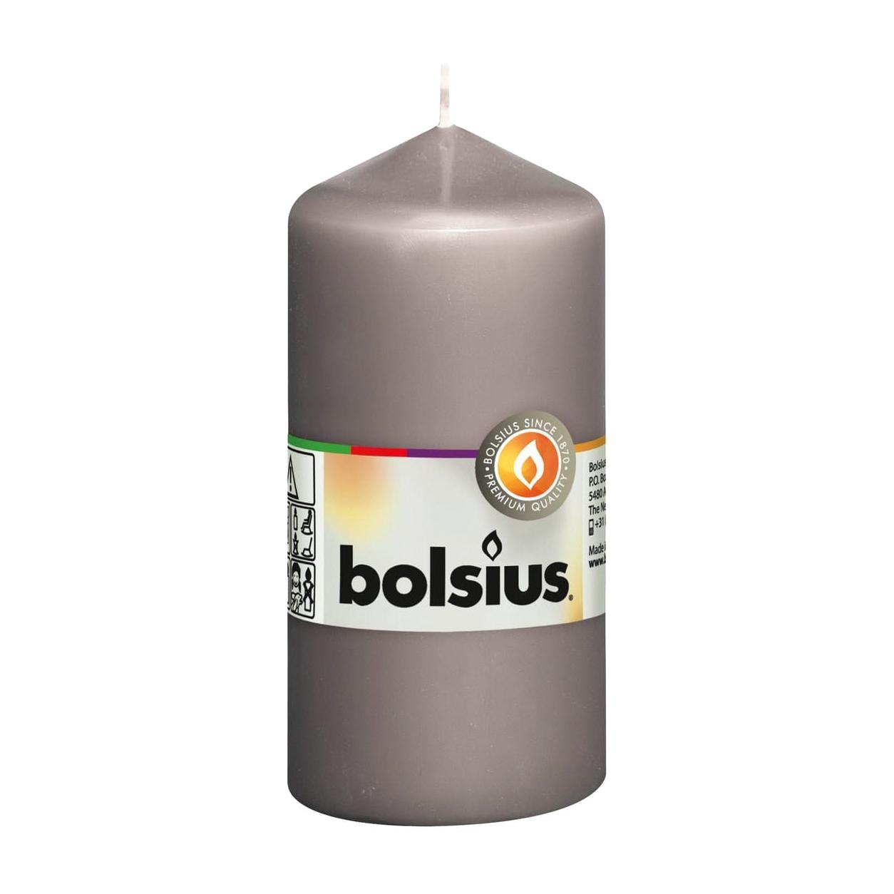 Фото - Свеча-столбик Bolsius 12x6 серая свеча столбик bolsius 12x6 коричневая