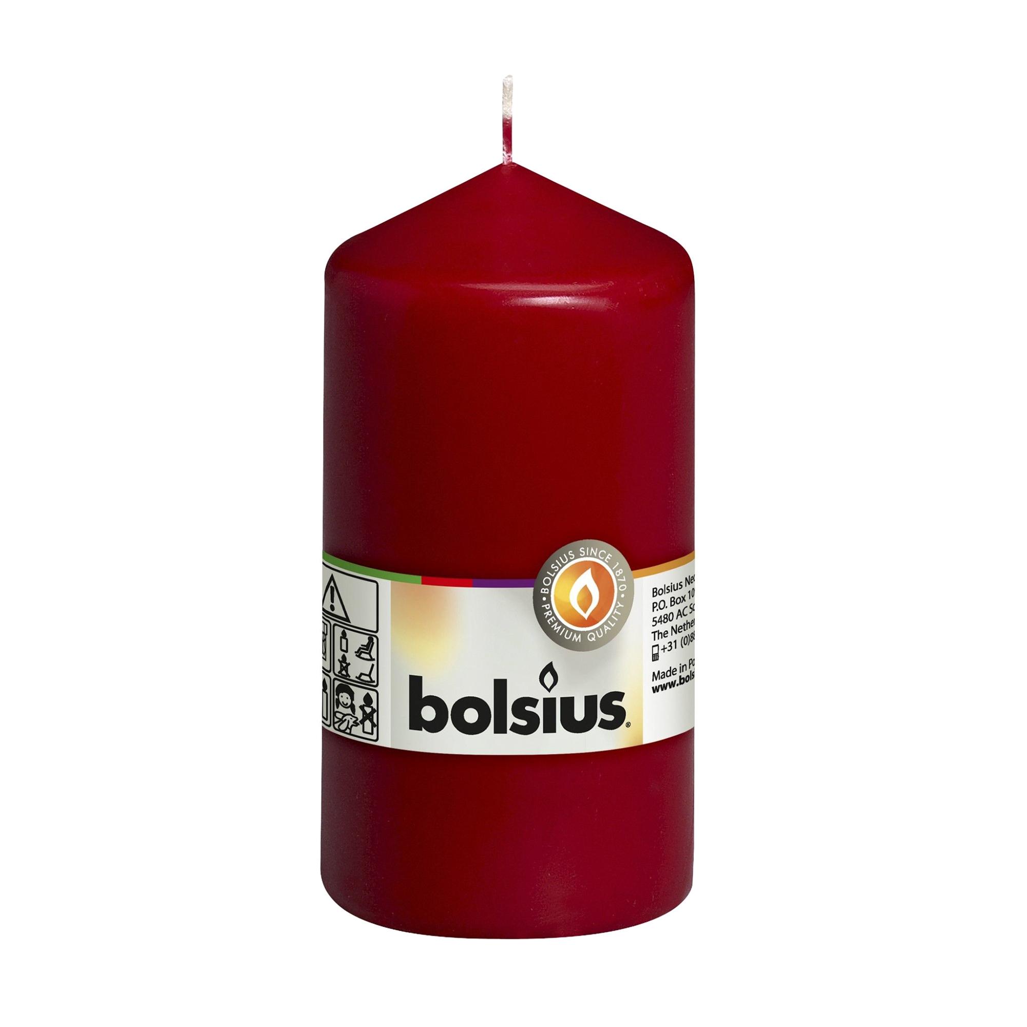 Фото - Свеча-столбик Bolsius 13x7 темно-красная свеча столбик bolsius 12x6 коричневая