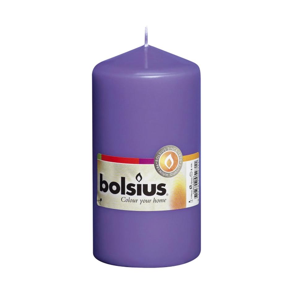 Фото - Свеча-столбик Bolsius 13x7 ультрафиолетовая свеча столбик bolsius 12x6 коричневая