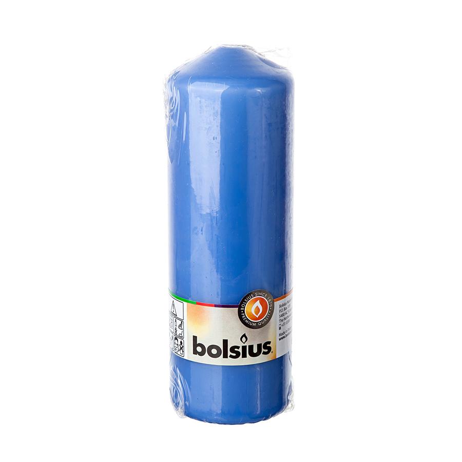 Фото - Свеча-столбик Bolsius 20x7 васильковая свеча столбик bolsius 12x6 коричневая