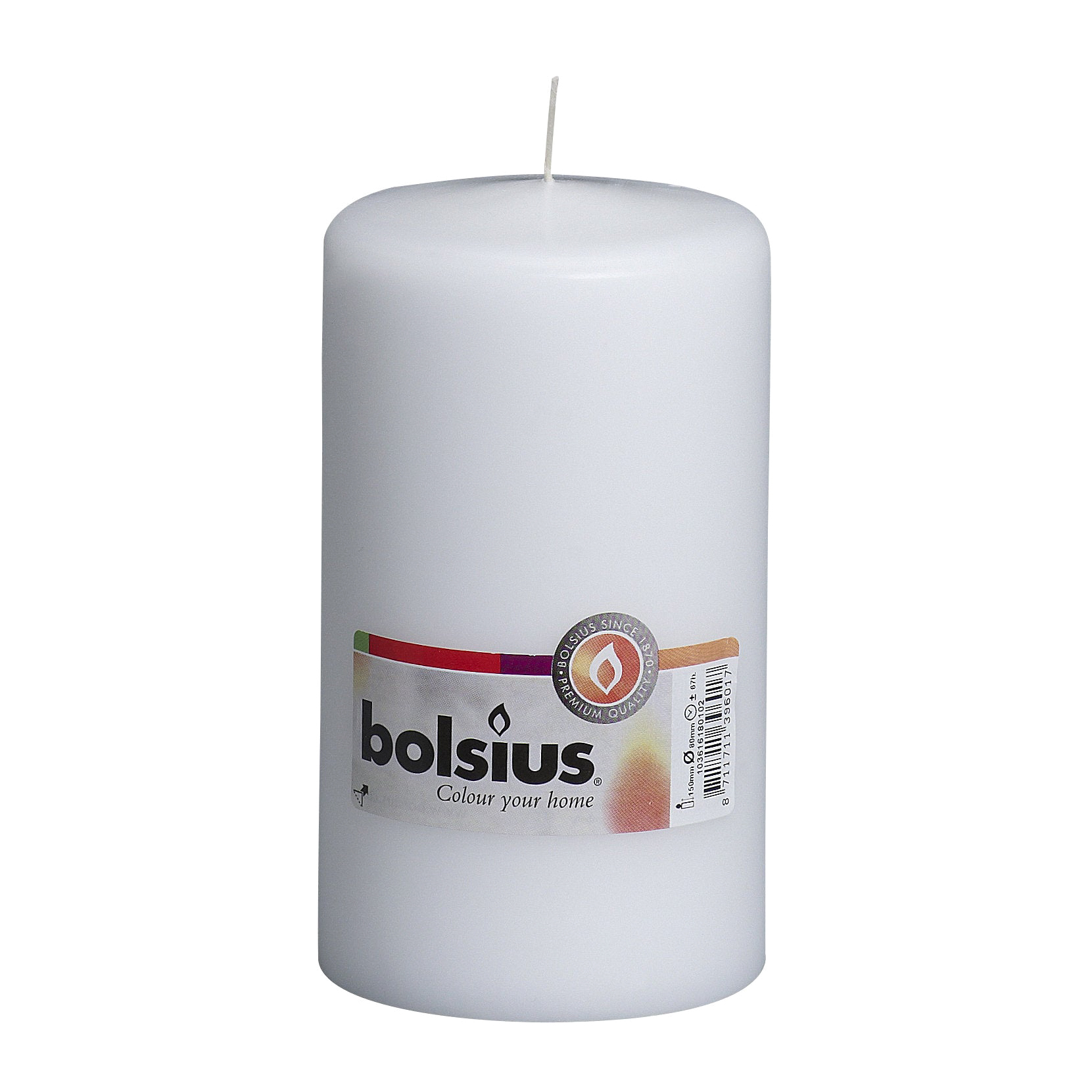 Фото - Свеча-столбик Bolsius 15x8 белая свеча столбик bolsius 12x6 коричневая