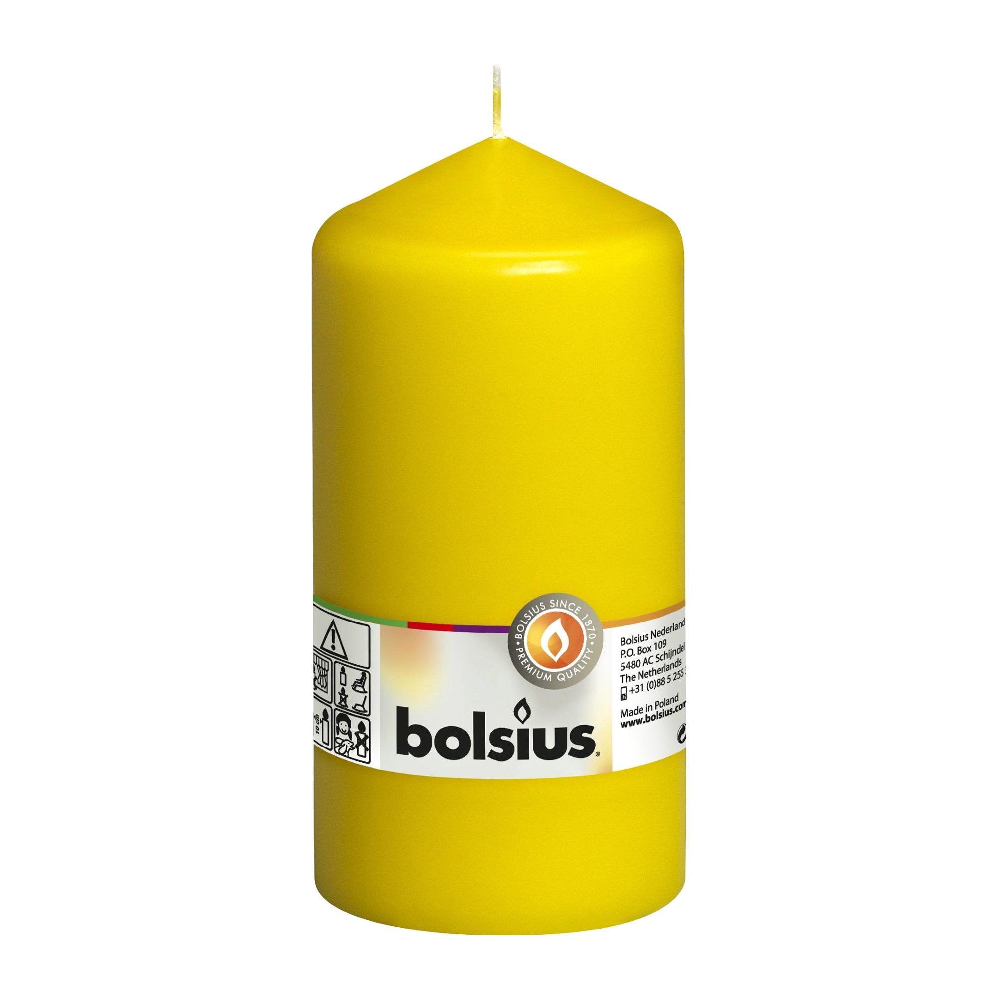 Фото - Свеча-столбик Bolsius 15x8 желтая свеча столбик bolsius 12x6 коричневая