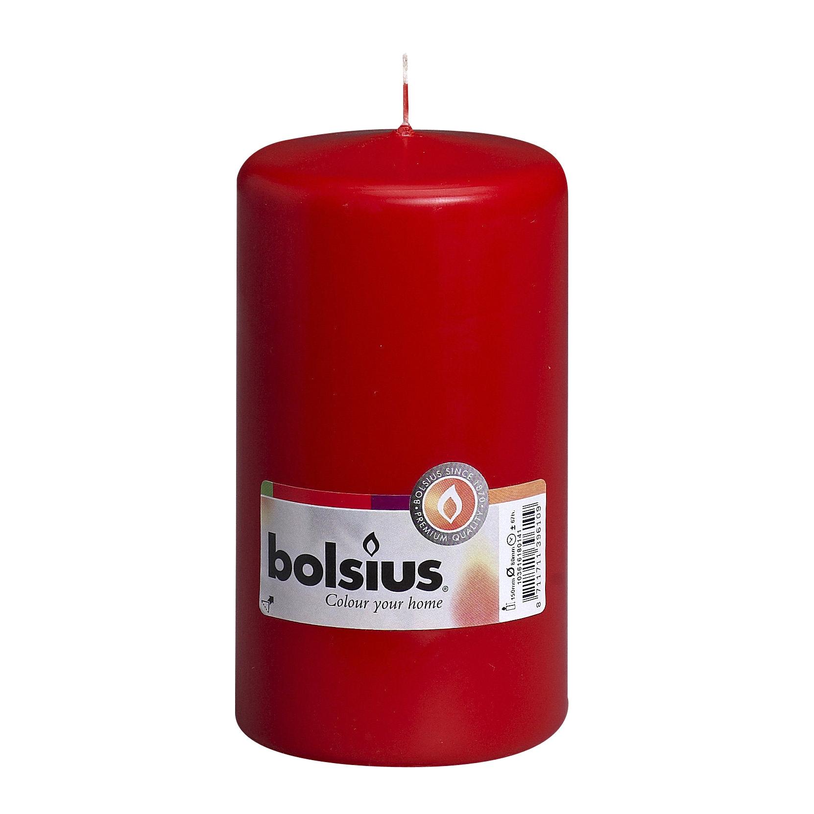Фото - Свеча-столбик Bolsius 15x8 красная свеча столбик bolsius 12x6 коричневая
