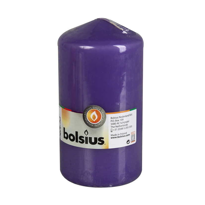 Фото - Свеча-столбик Bolsius 15x8 ультрафиолетовая свеча столбик bolsius 12x6 коричневая