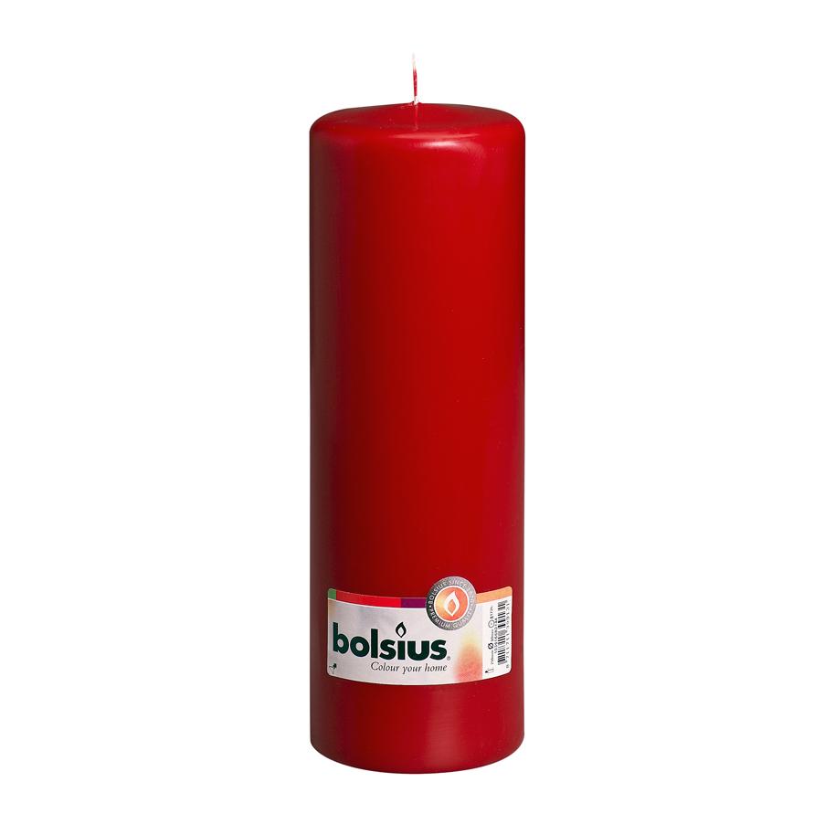 Фото - Свеча-столбик Bolsius 25x8 красная свеча столбик bolsius 12x6 коричневая
