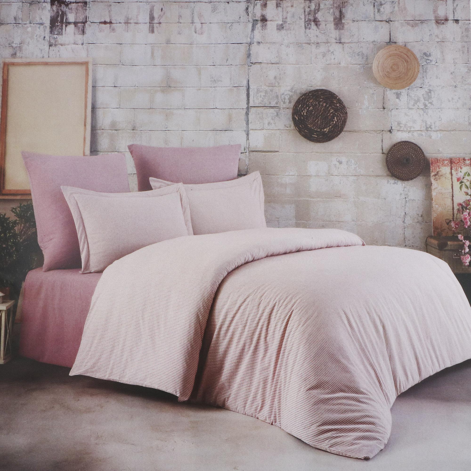 Постельный комплект Colors of Fashion king size crincle pink aft-018
