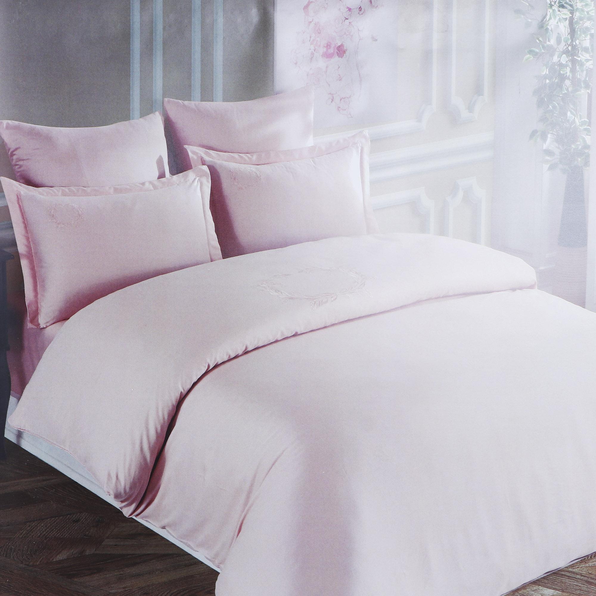 Постельный комплект Colors of fashion евро bambo l.pink aft-017