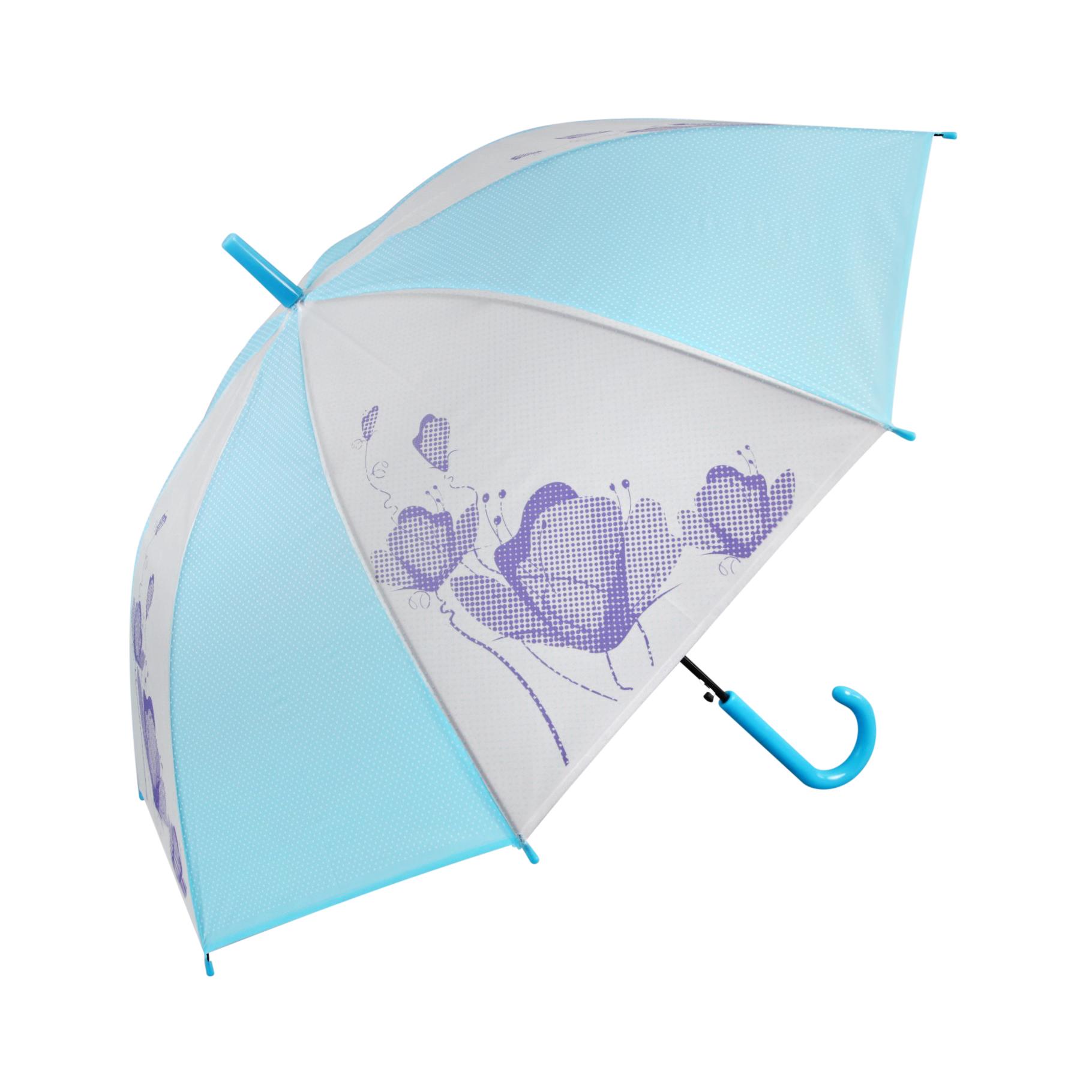 Зонт-трость Sima женский Цветы голубой корона принца sima land с изумрудами