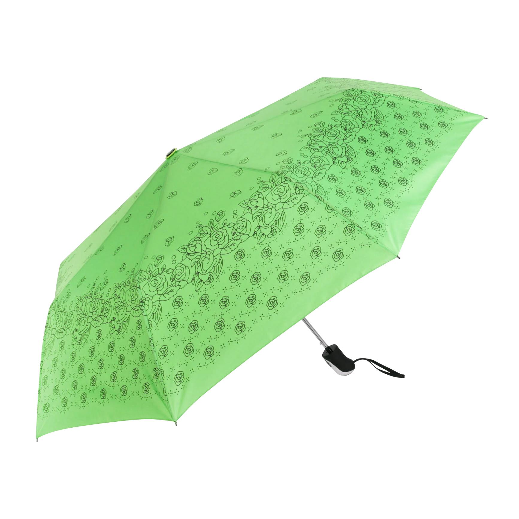 Зонт полуавтомат Sima женский Розочки 3 сложения корона принца sima land с изумрудами