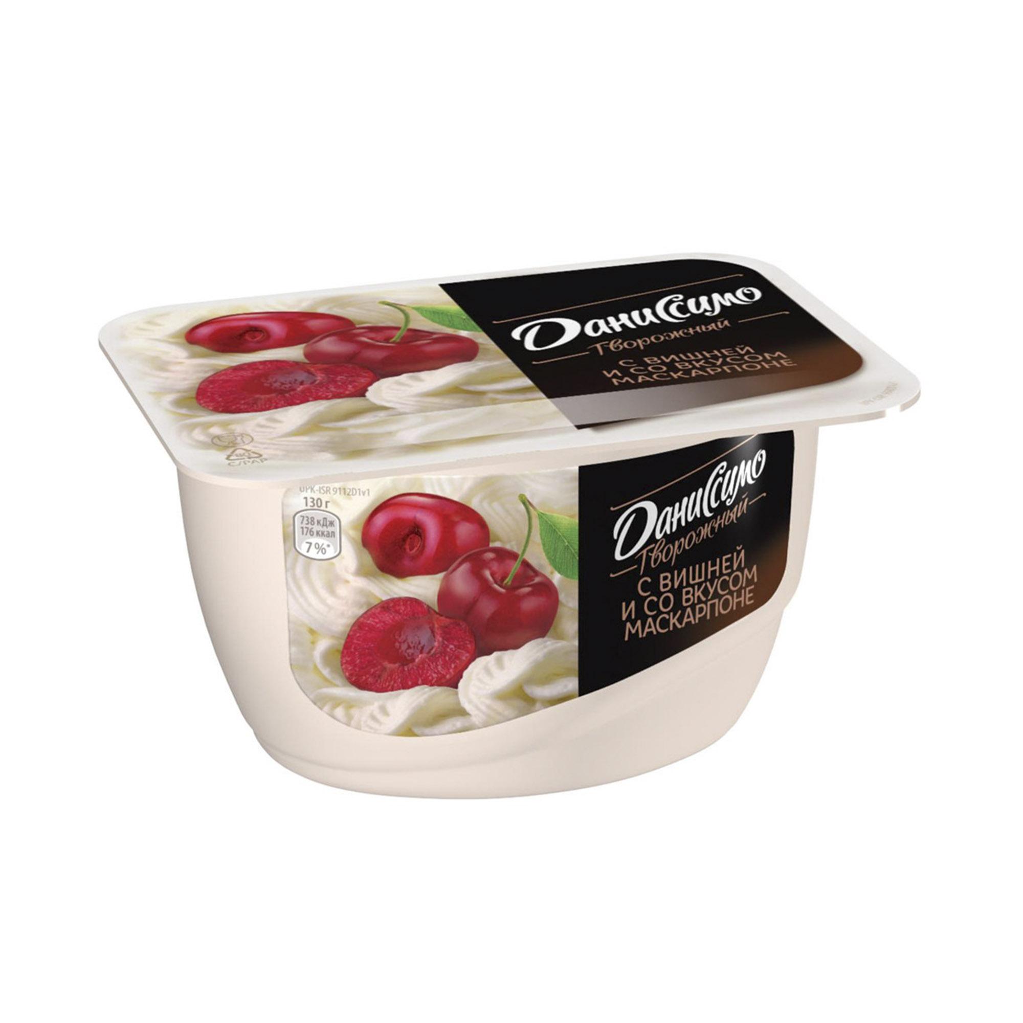 Десерт Даниссимо творожный с вишней и маскарпоне 130 г
