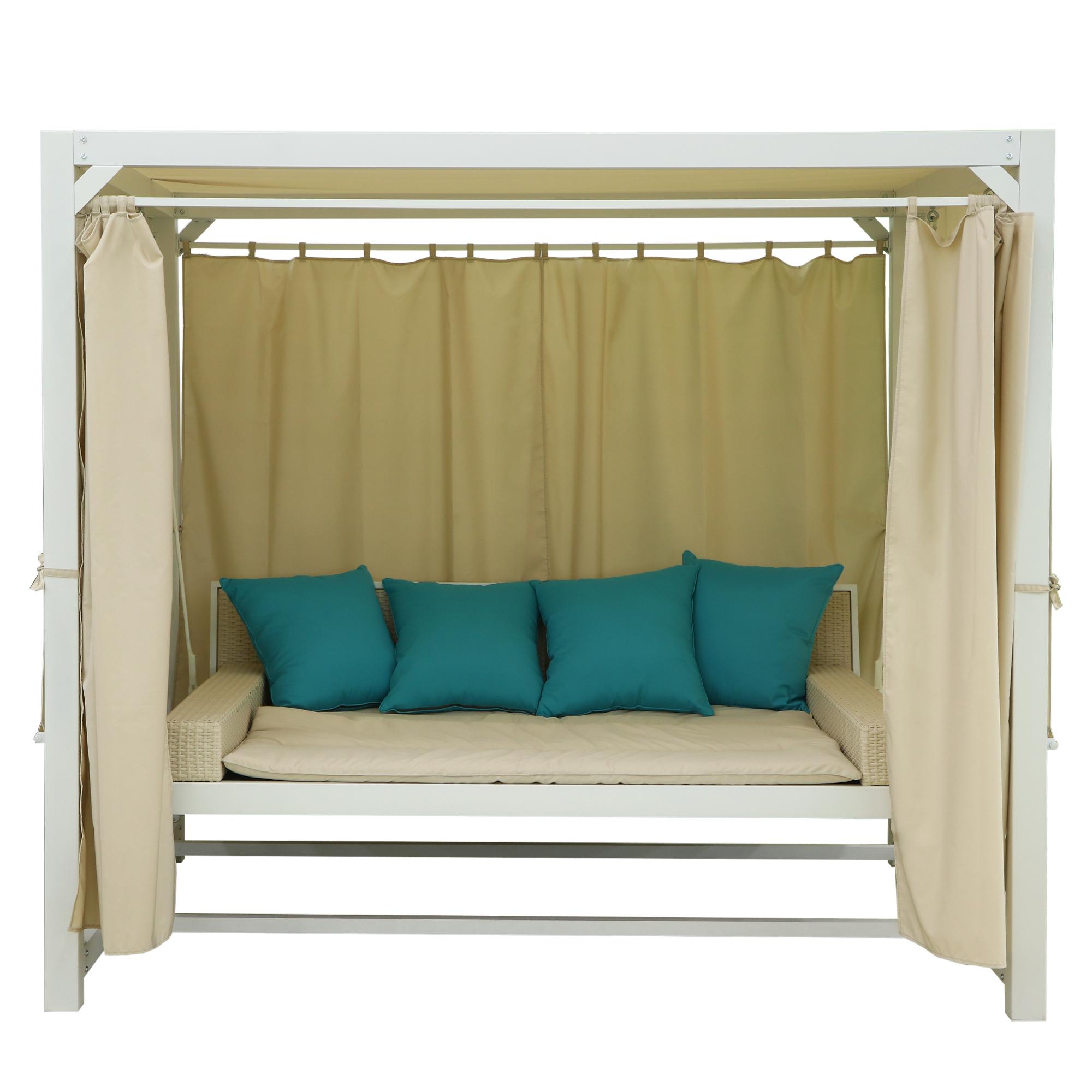 Диван подвесной Greenpatio Barcelona с подушками белый