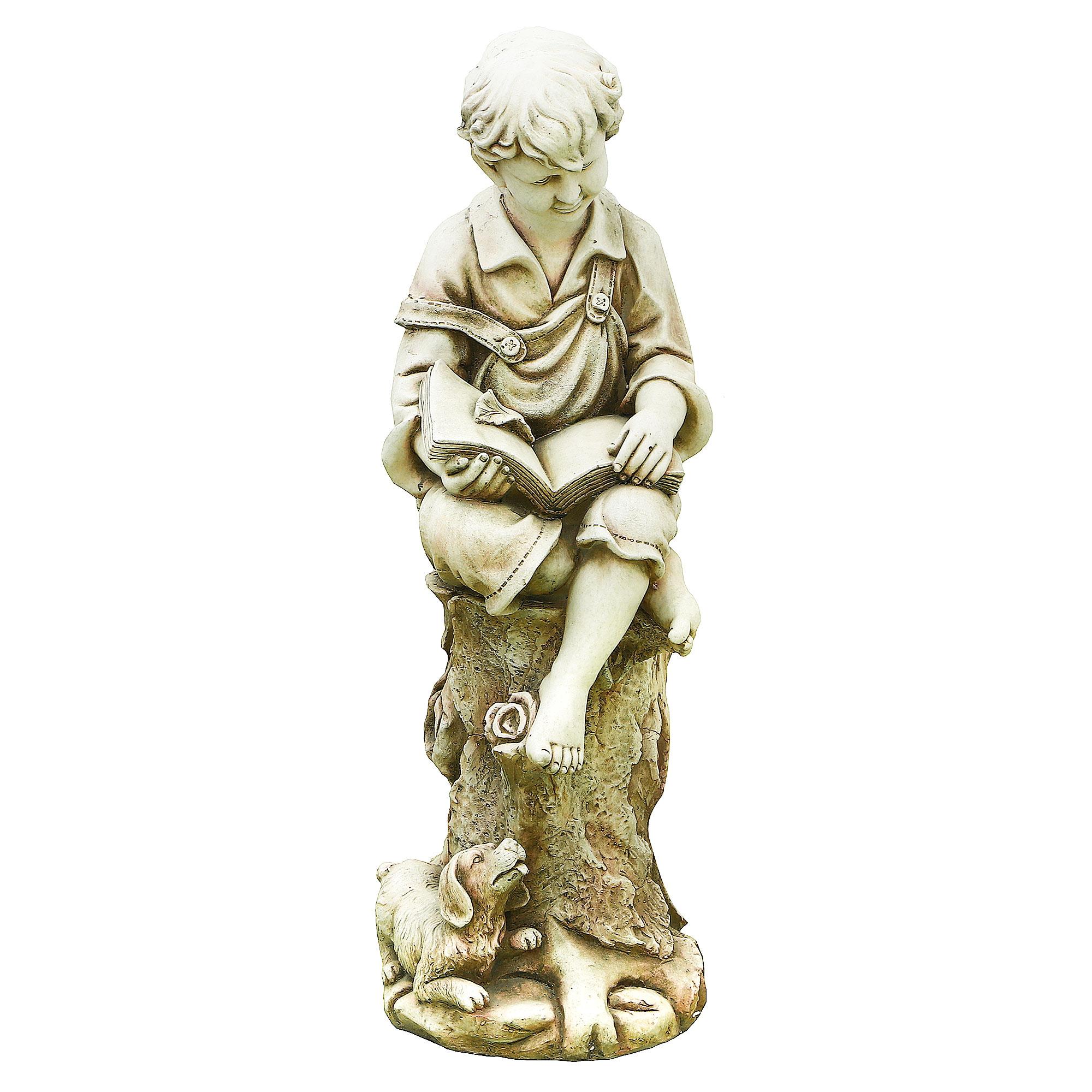 Фигура садовая Shimmer arts Мальчик с книгой 31х31х91 см садовая фигура щенок с клубникой 20 х16 см 6255372