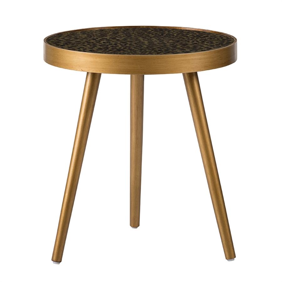 Столик Glasar 46x46x52см с круглой стеклянной столешницей
