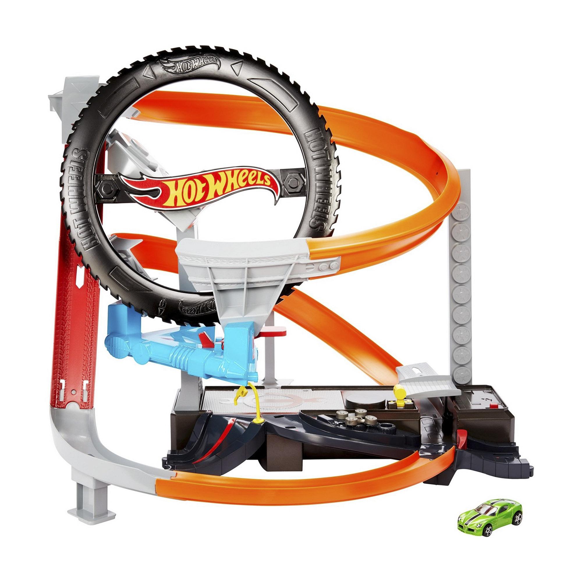 Набор игровой Hot Wheels Сити Шиномонтажная мастерская машины mattel hot wheels сити игровой набор шиномонтажная мастерская