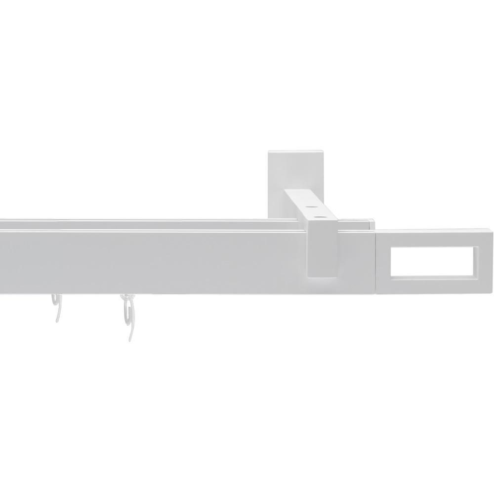 Карниз двухрядный Arttex Фрейм белый 200 см
