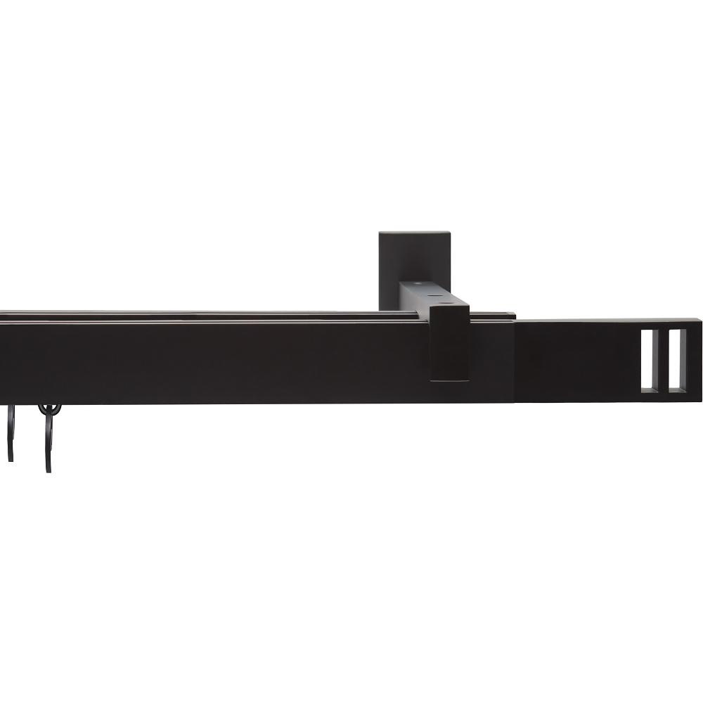 Карниз двухрядный Arttex Квадро черный 240 см